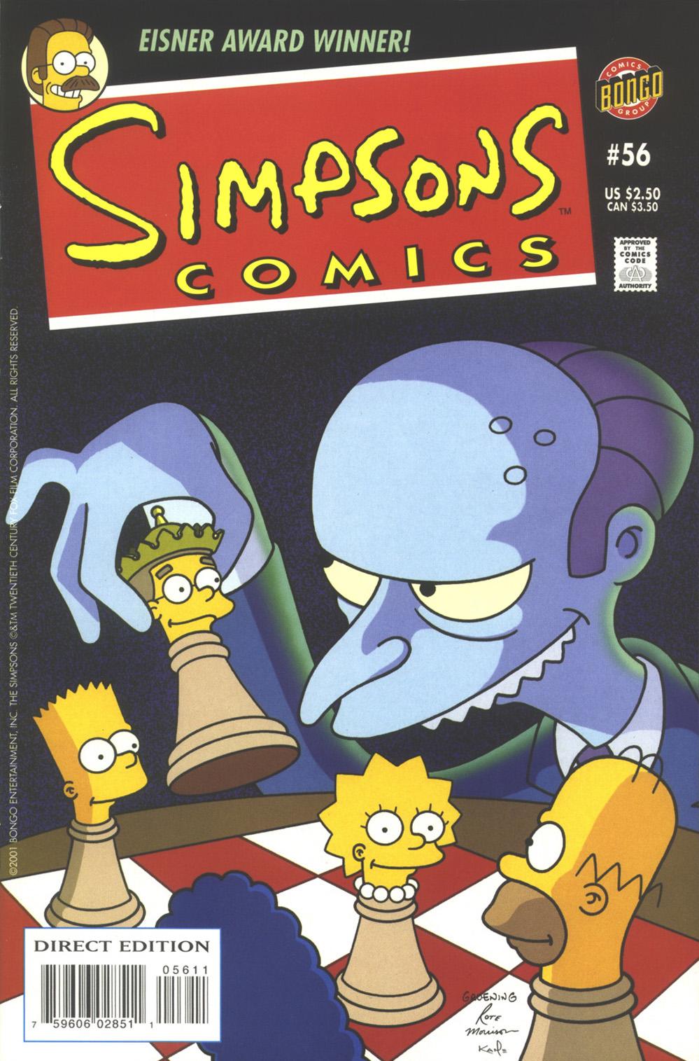 Read online Simpsons Comics comic -  Issue #56 - 1