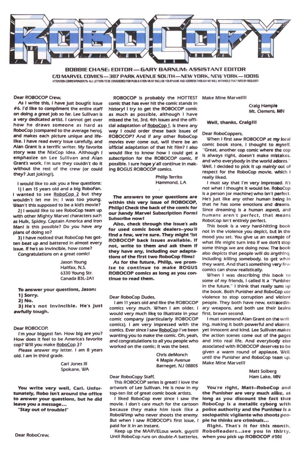Read online Robocop (1990) comic -  Issue #9 - 24