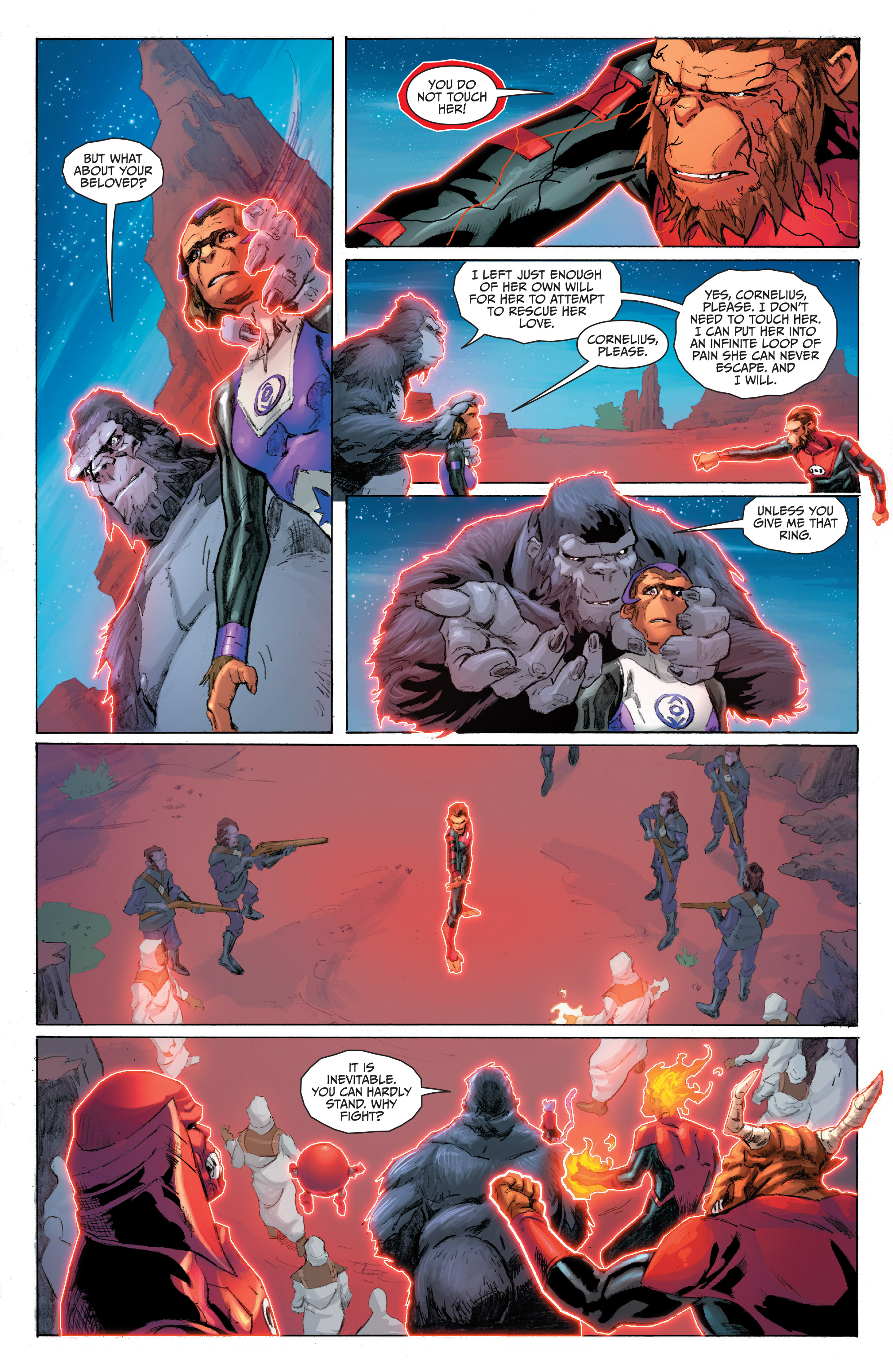 Read online Planet of the Apes/Green Lantern comic -  Issue #5 - 18