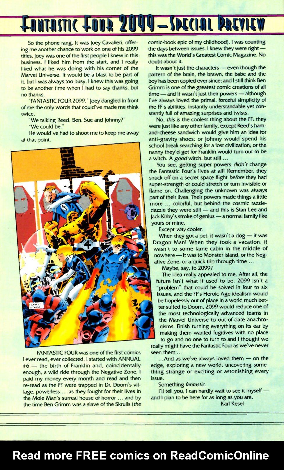 Fantastic Four 2099 1 Page 30