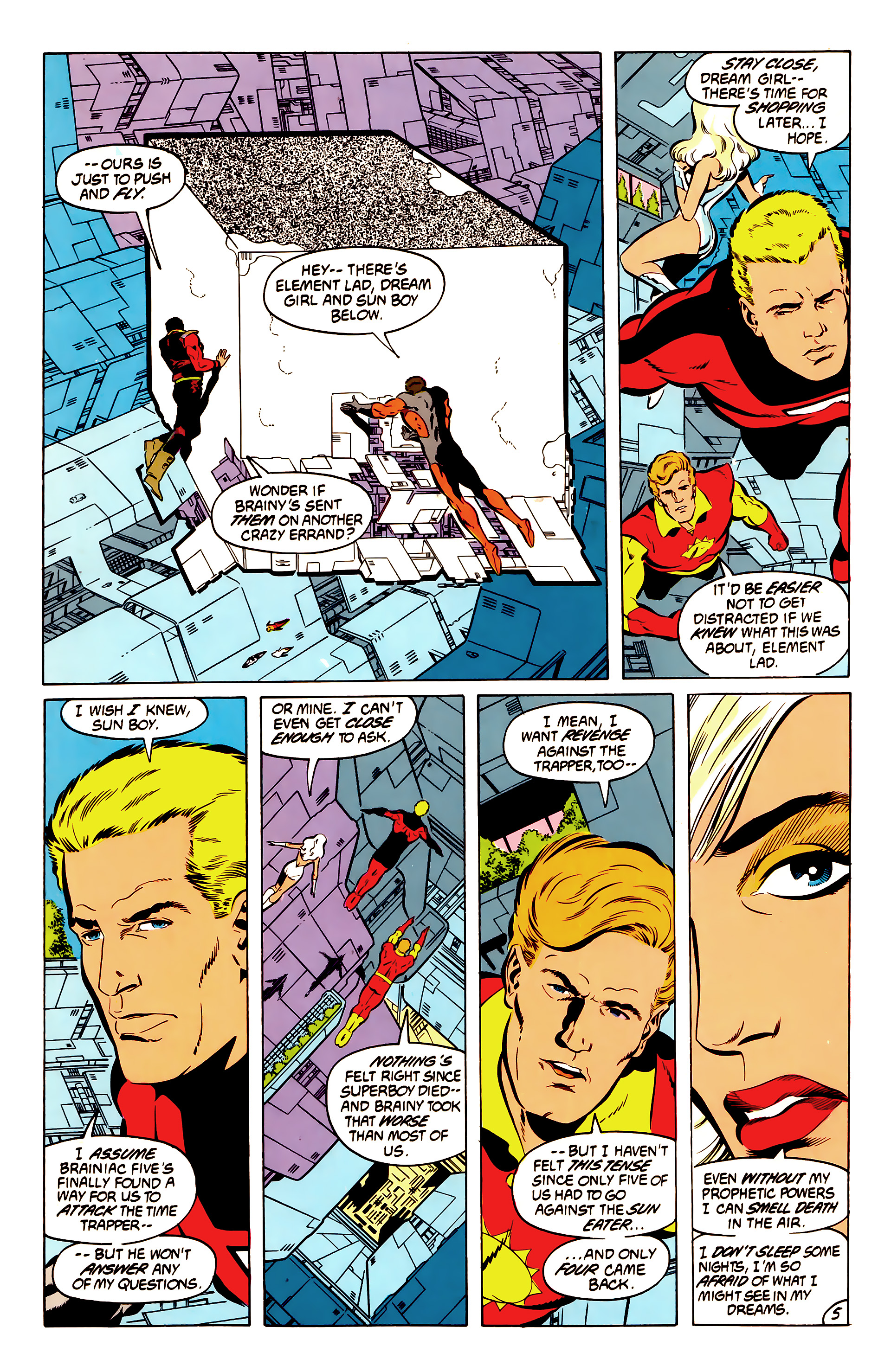 Legion of Super-Heroes (1984) 50 Page 5