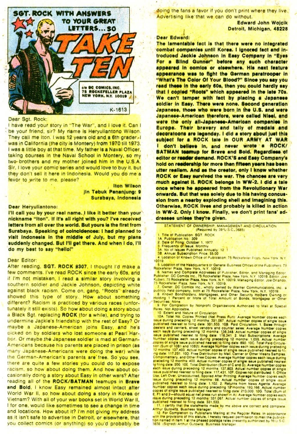 Read online Sgt. Rock comic -  Issue #316 - 32