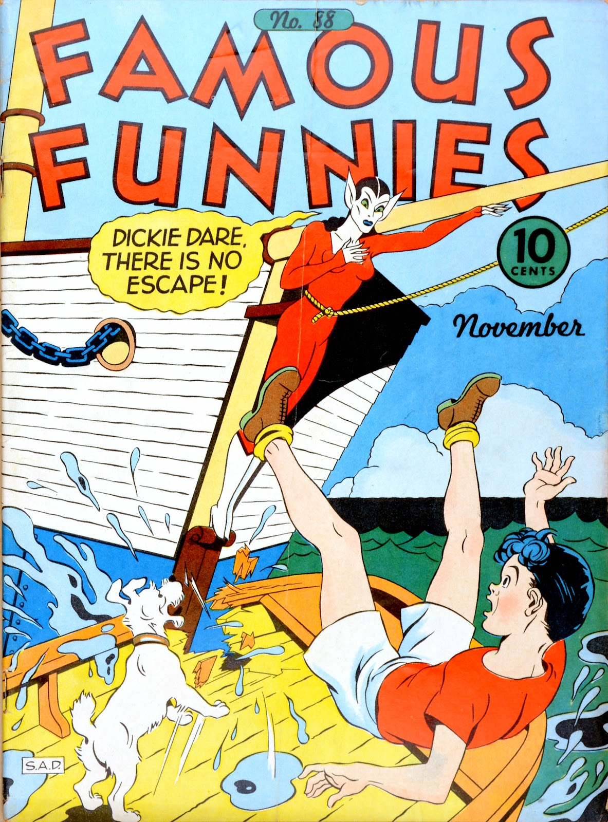 Read online Famous Funnies comic -  Issue #88 - 1