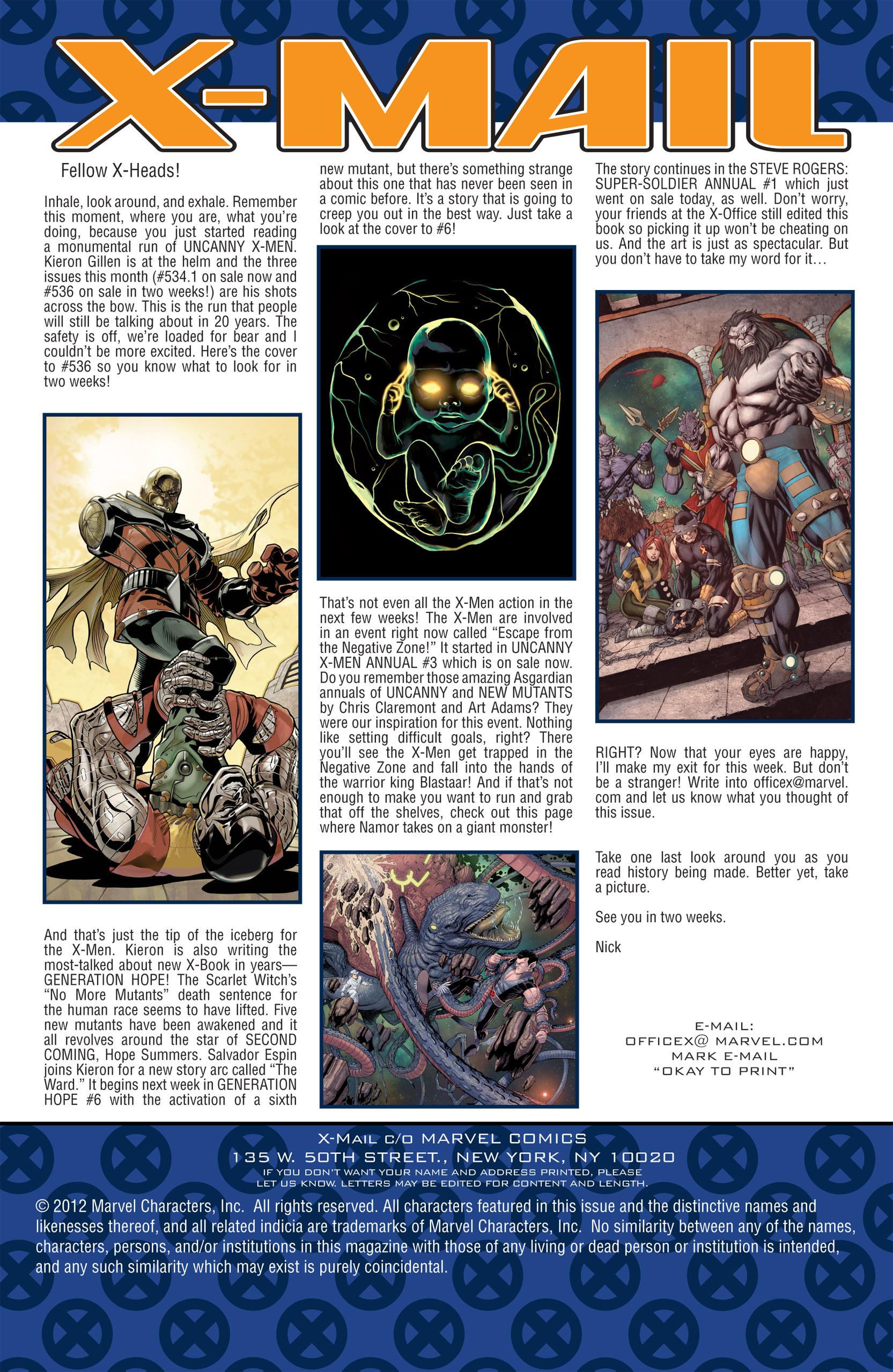 Read online Uncanny X-Men (1963) comic -  Issue #535 - 25