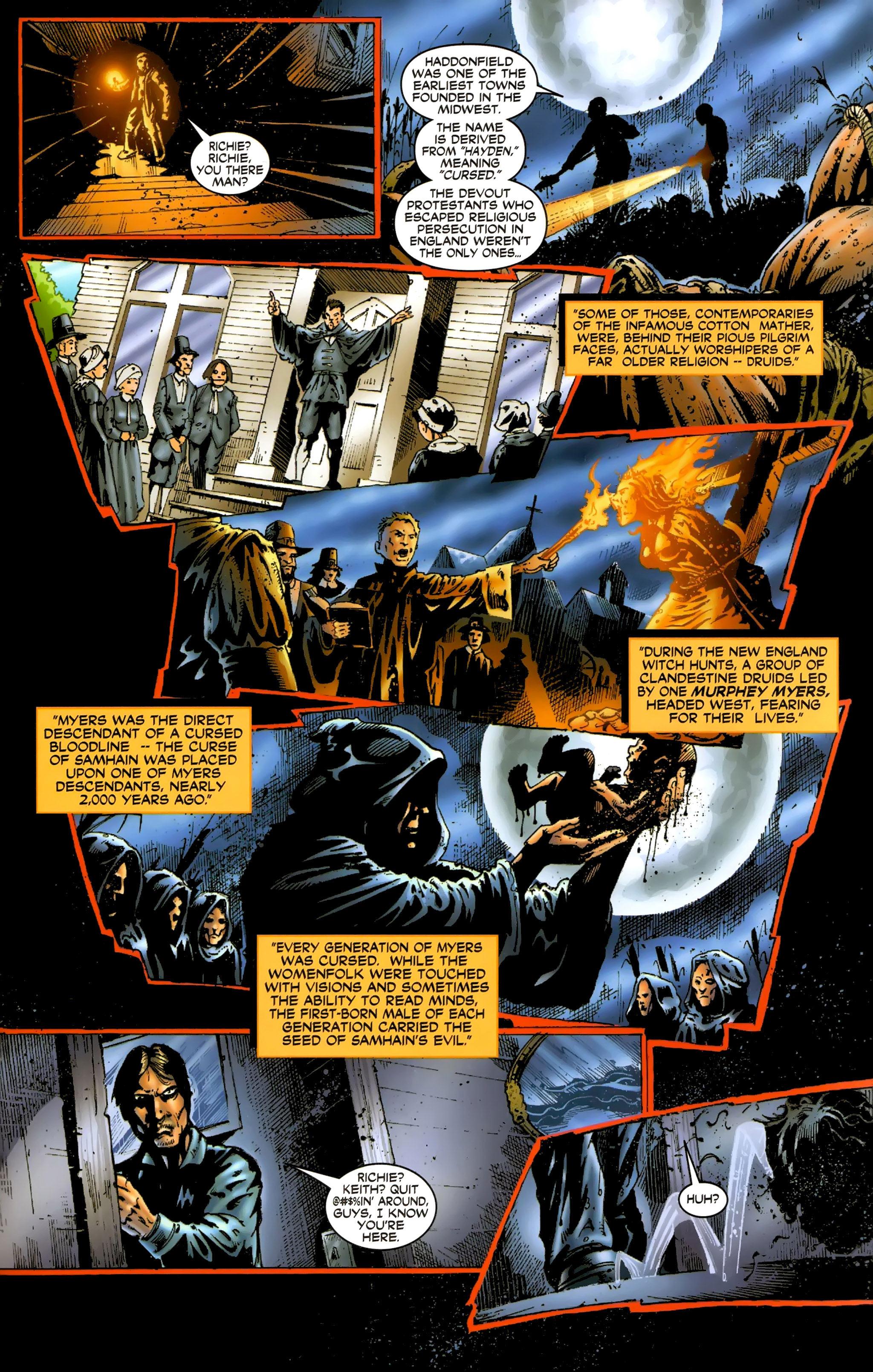 Read online Halloween II: The Blackest Eyes comic -  Issue # Full - 13