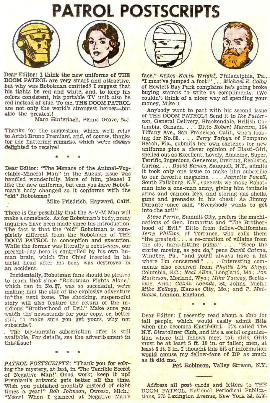 Doom Patrol (1964) issue 92 - Page 22