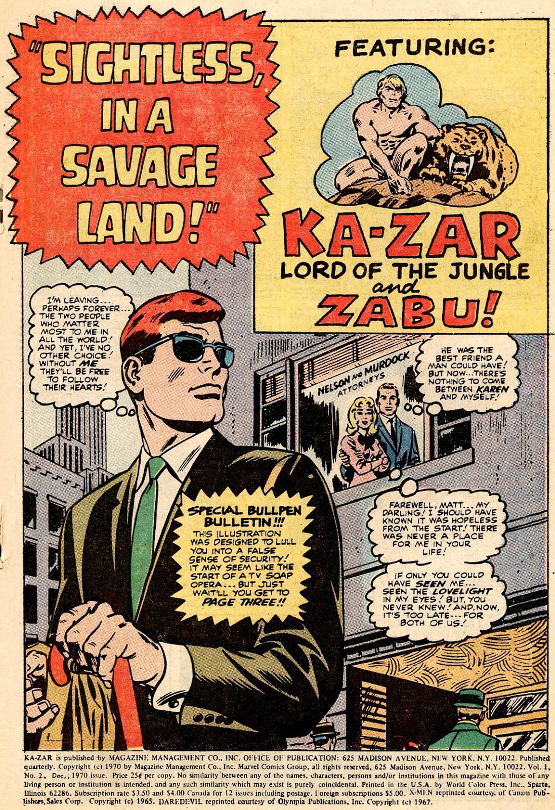 Ka-Zar (1970) 2 Page 2