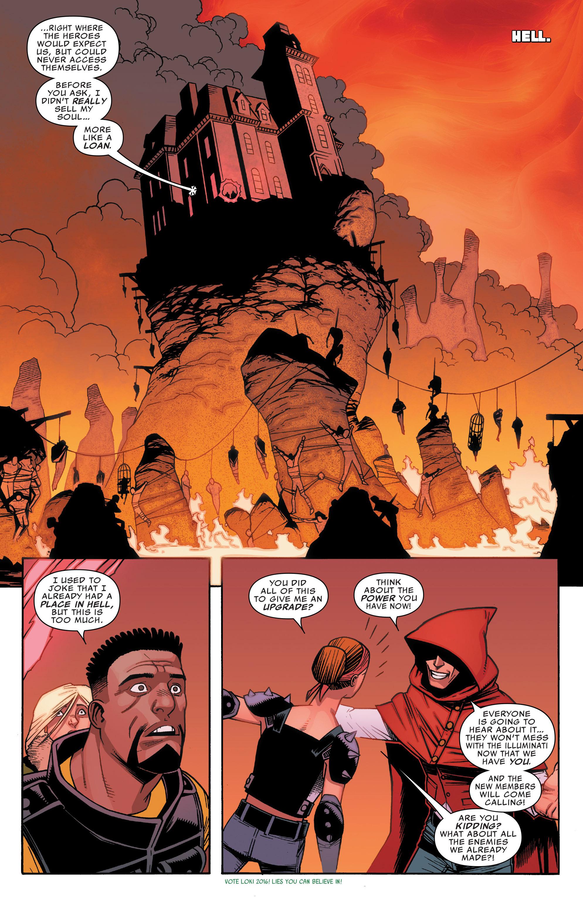 Read online Illuminati comic -  Issue #5 - 18