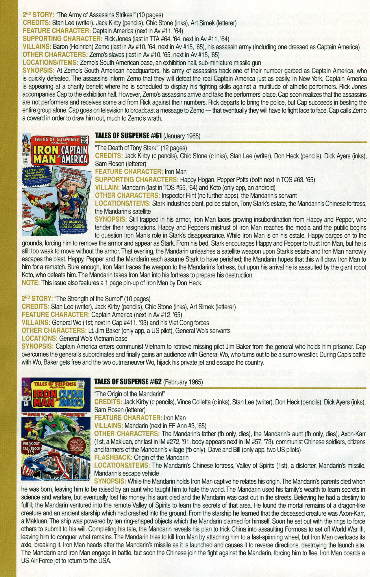 Read online Official Index to the Marvel Universe comic -  Issue #1 - 38