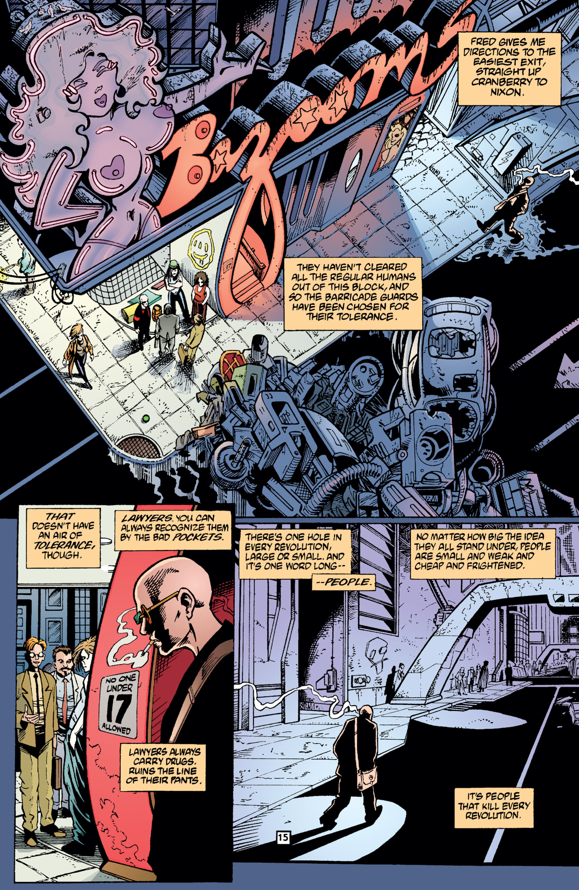 Read online Transmetropolitan comic -  Issue #2 - 16