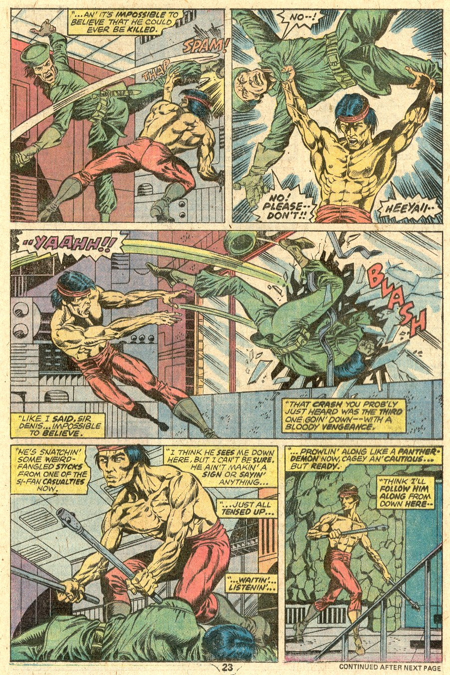 Comic Master of Kung Fu (1974) issue 33