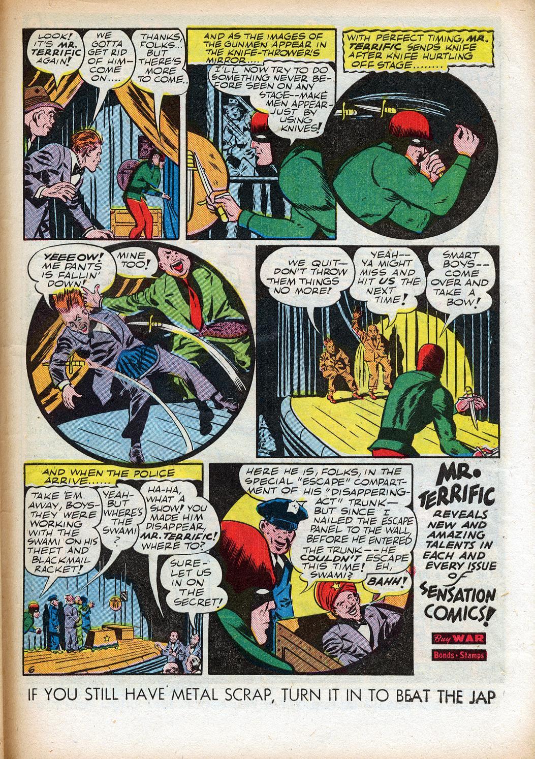 Read online Sensation (Mystery) Comics comic -  Issue #33 - 39