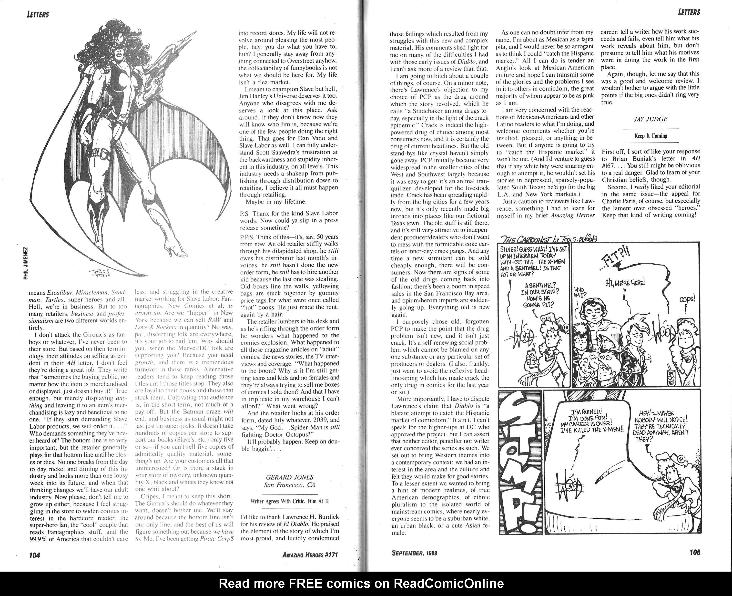 Read online Amazing Heroes comic -  Issue #171 - 53
