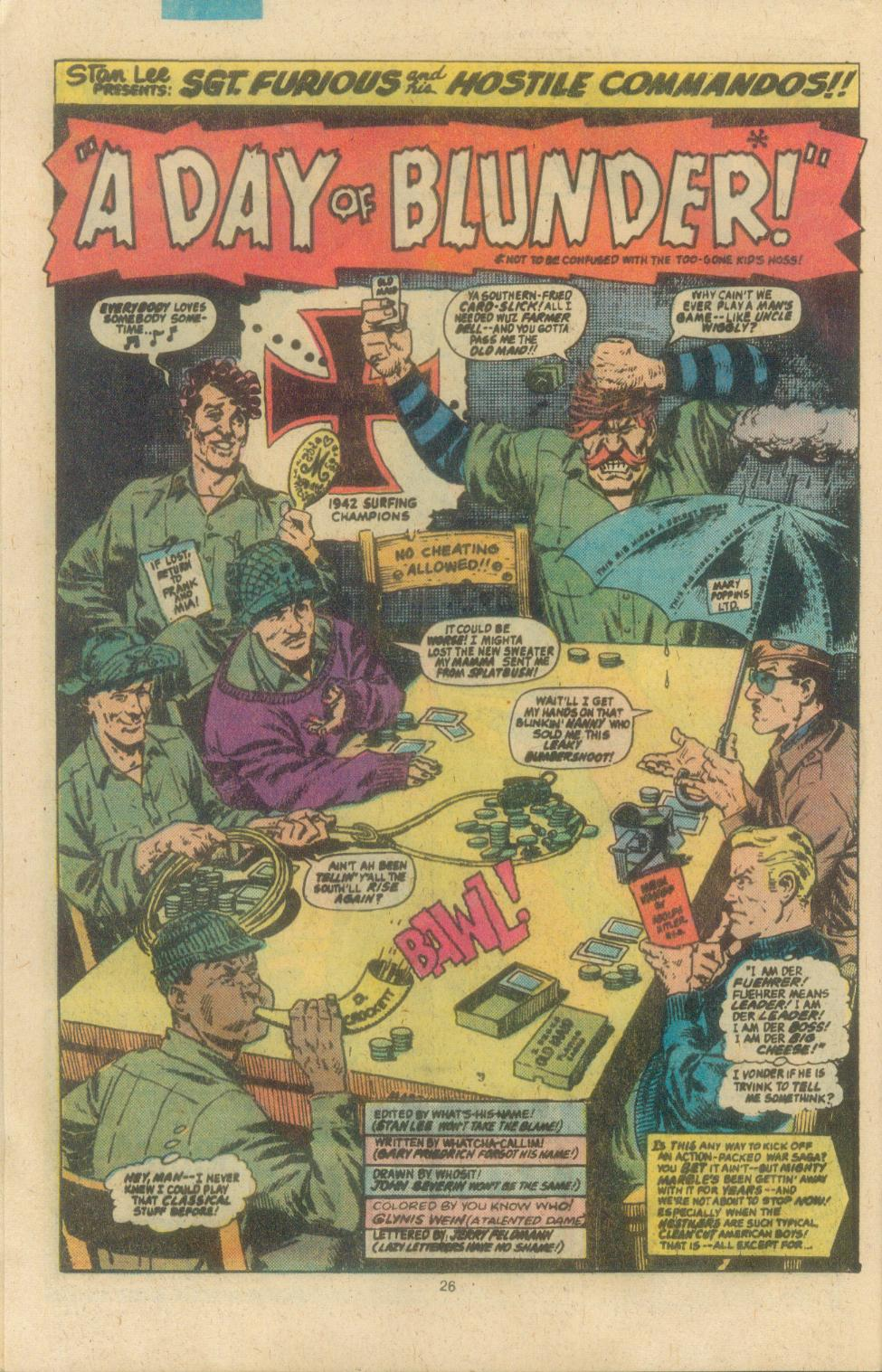 Read online Sgt. Fury comic -  Issue #162 - 28
