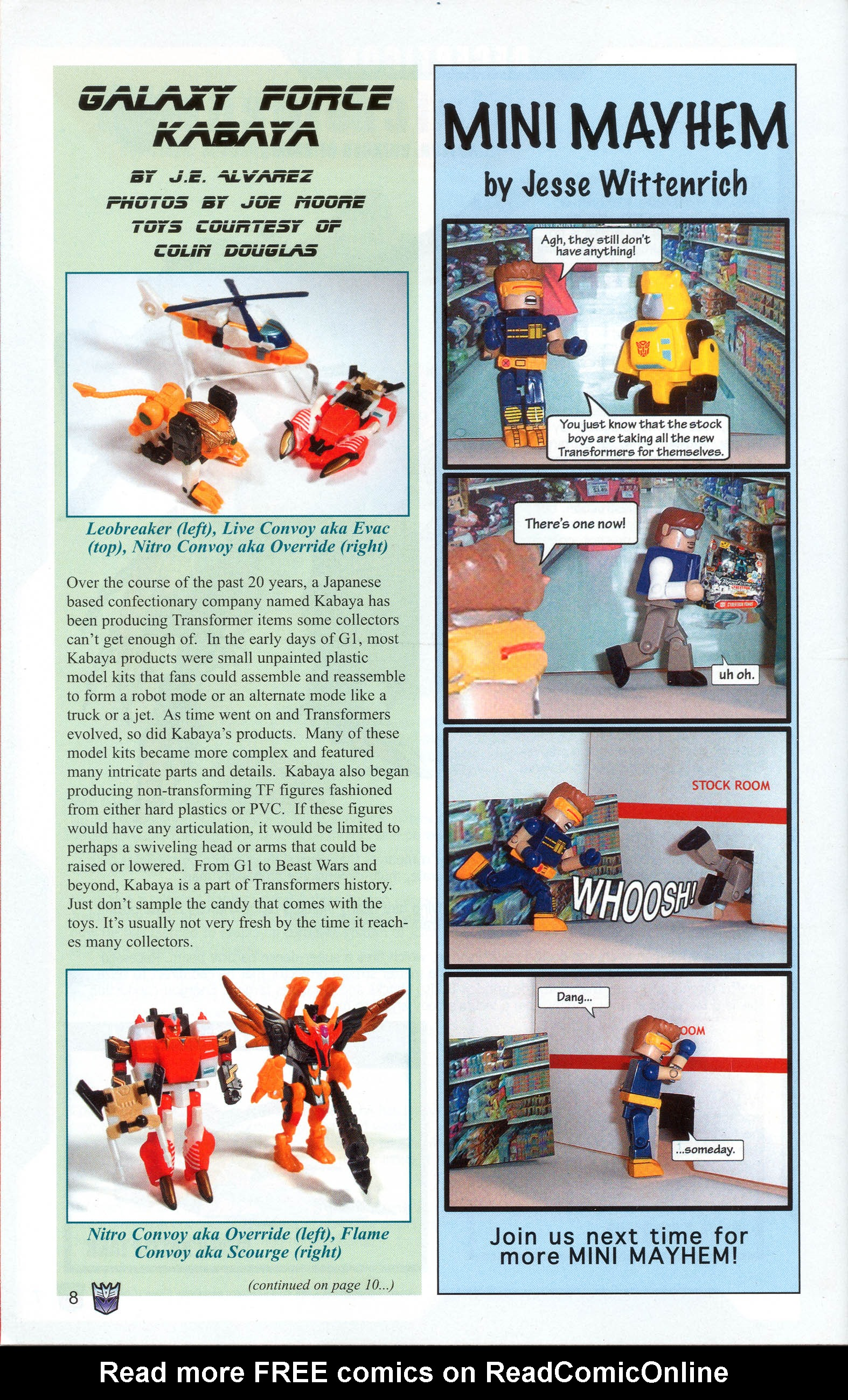Read online Transformers: Collectors' Club comic -  Issue #10 - 8