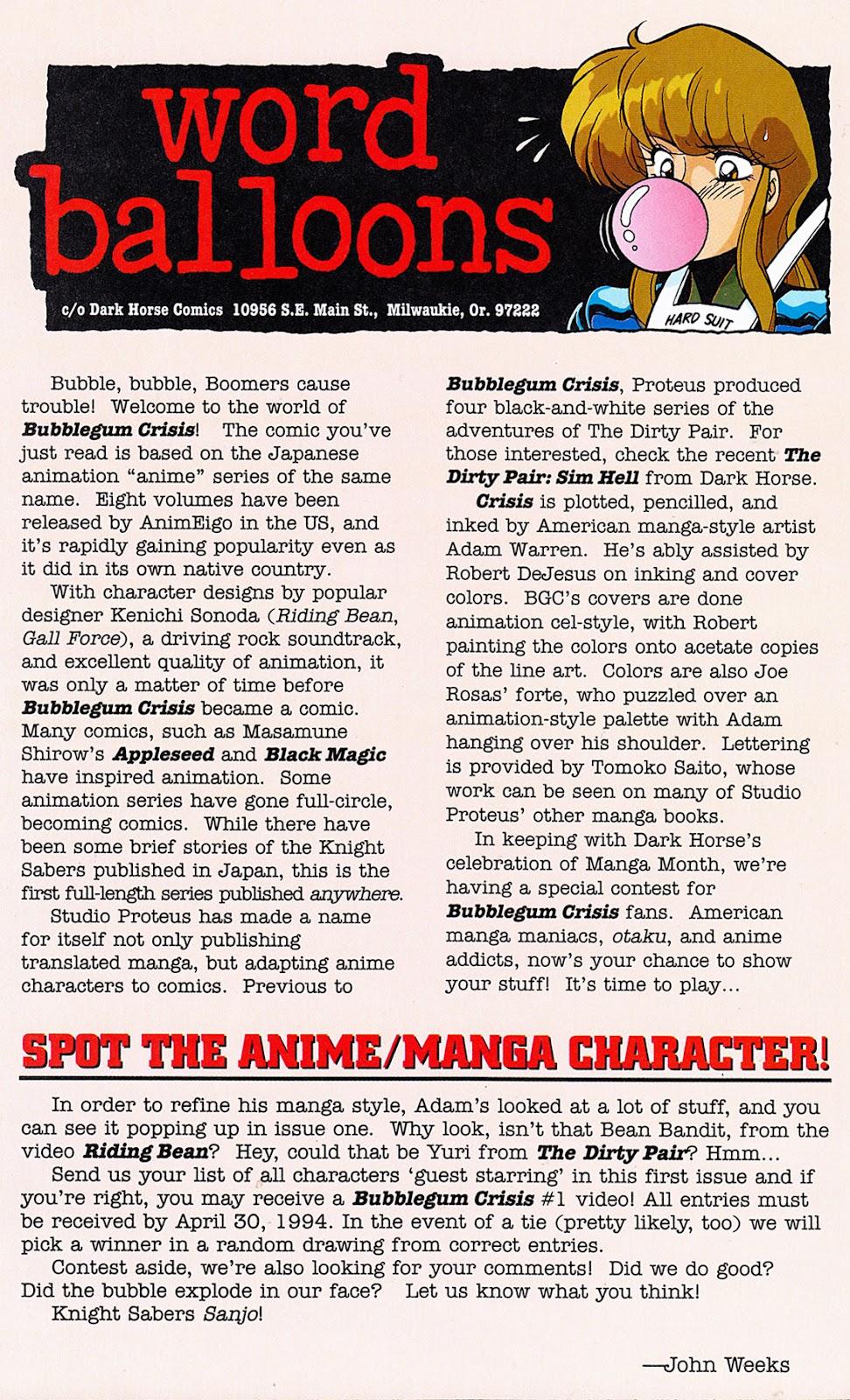 Bubblegum Crisis: Grand Mal issue 1 - Page 30
