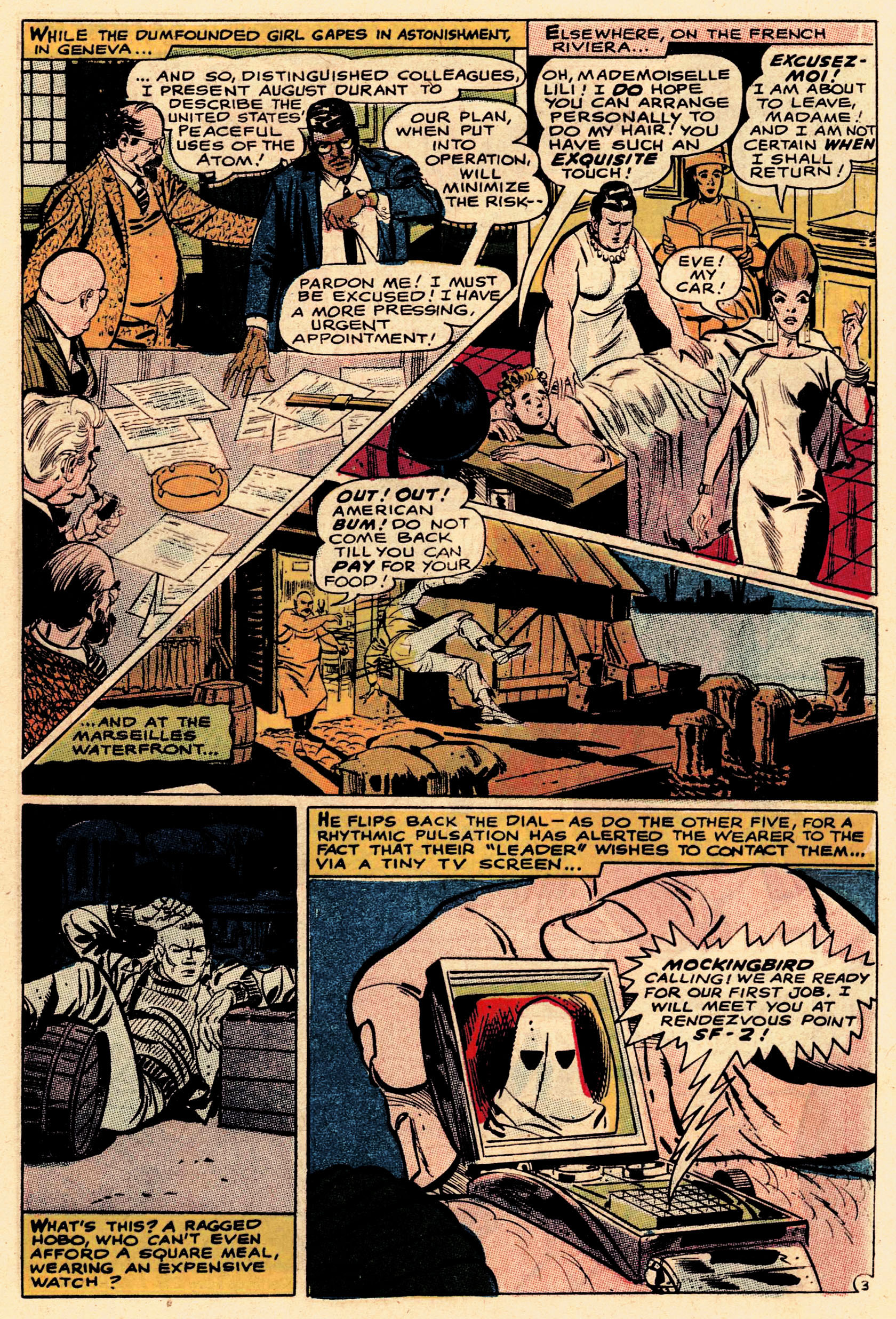 Read online Secret Six (1968) comic -  Issue #1 - 5