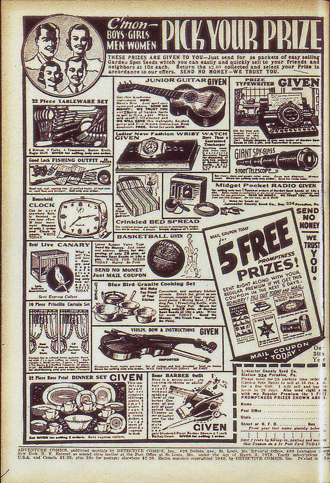 Read online Adventure Comics (1938) comic -  Issue #59 - 3