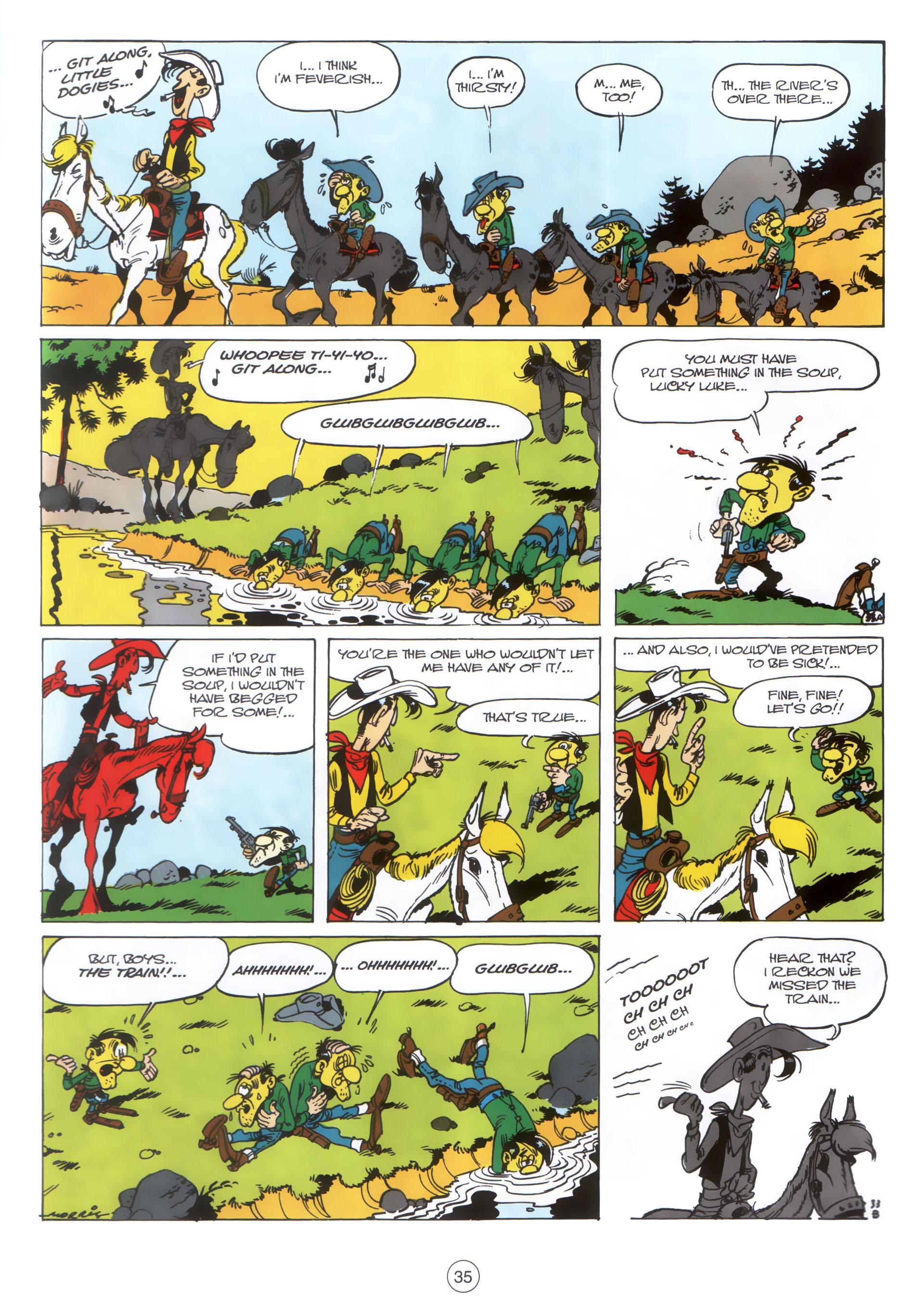 Read online A Lucky Luke Adventure comic -  Issue #30 - 34