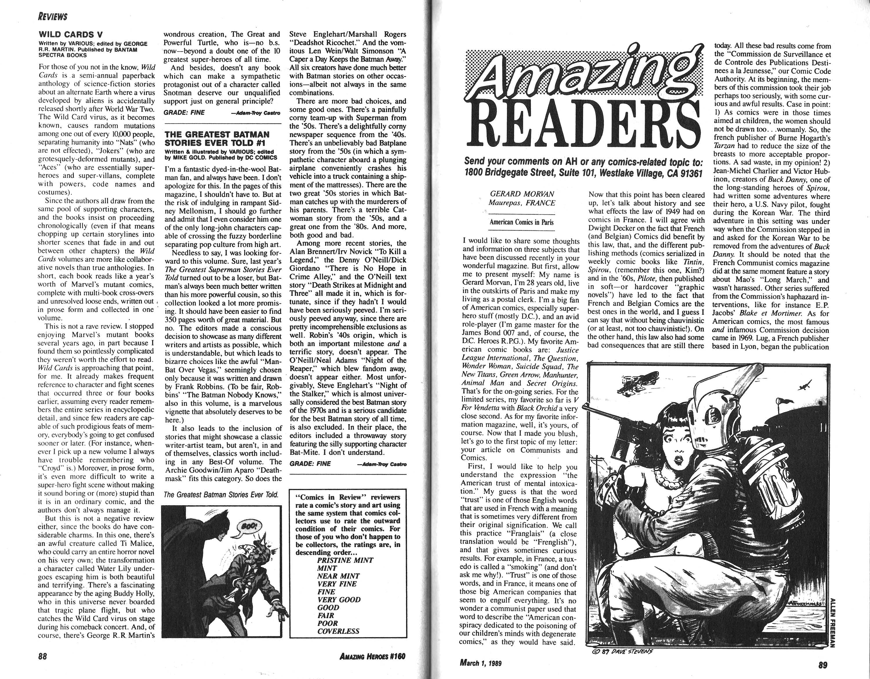 Read online Amazing Heroes comic -  Issue #160 - 45