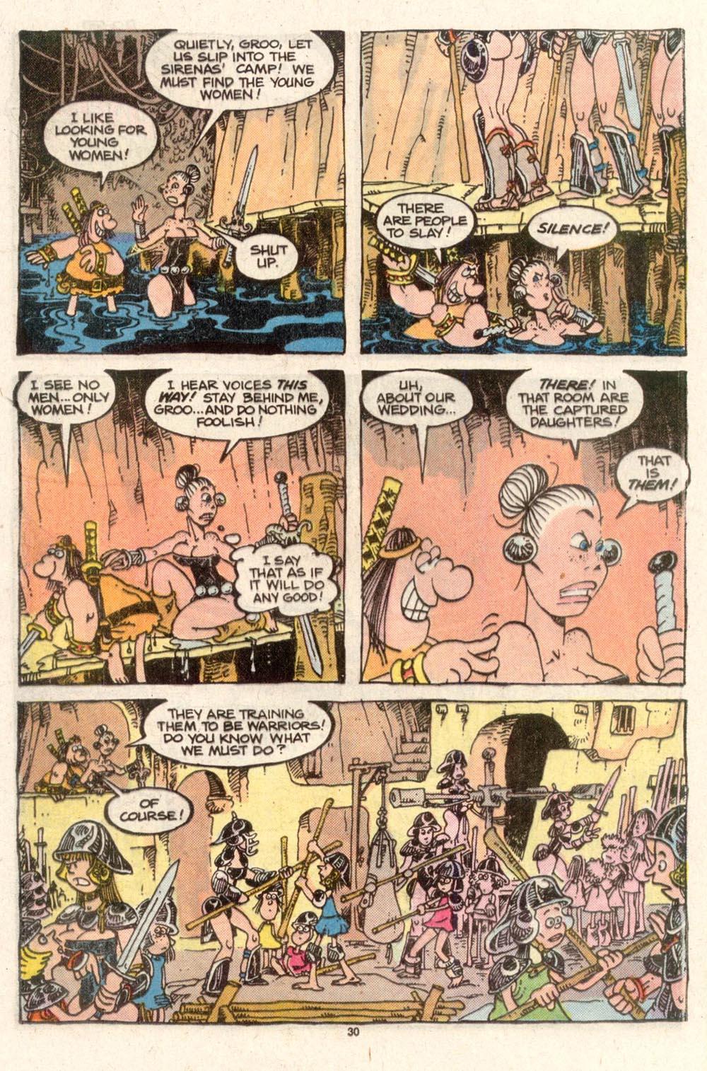Read online Sergio Aragonés Groo the Wanderer comic -  Issue #50 - 30