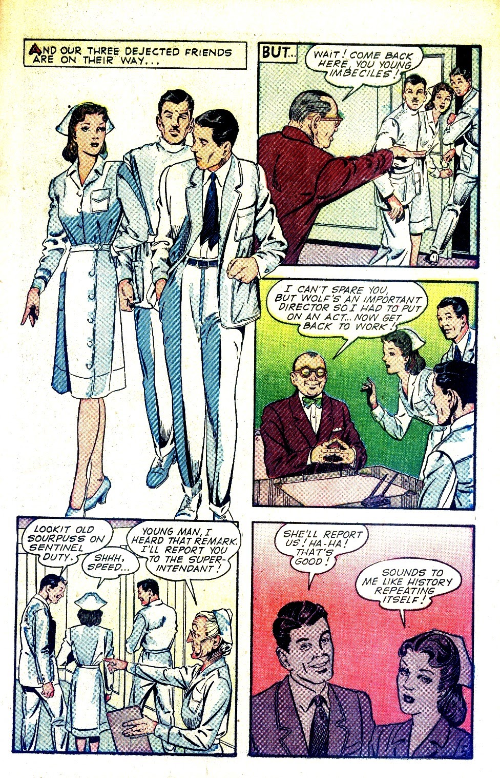 Read online Nellie The Nurse (1945) comic -  Issue #2 - 7
