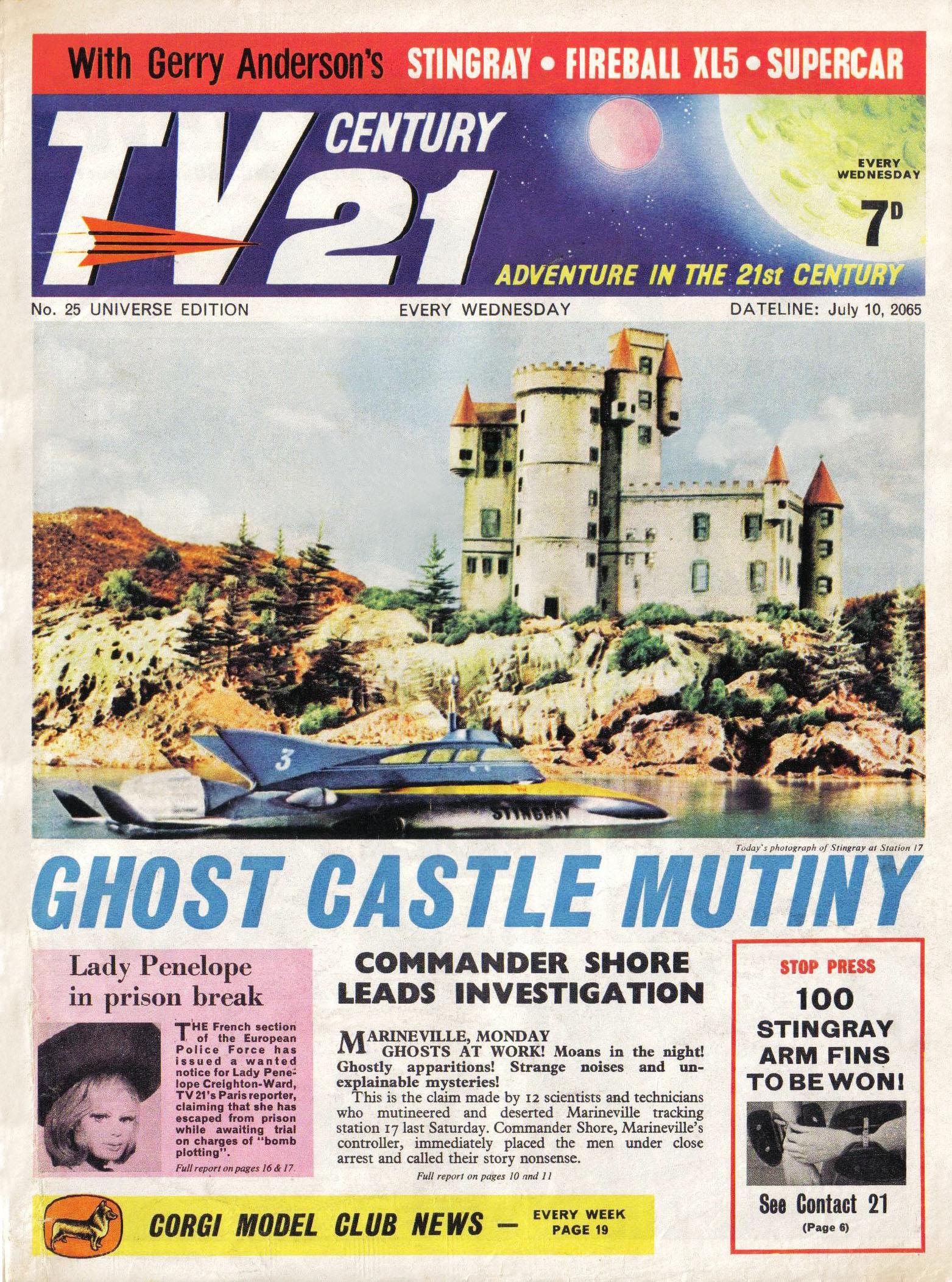 Read online TV Century 21 (TV 21) comic -  Issue #25 - 1