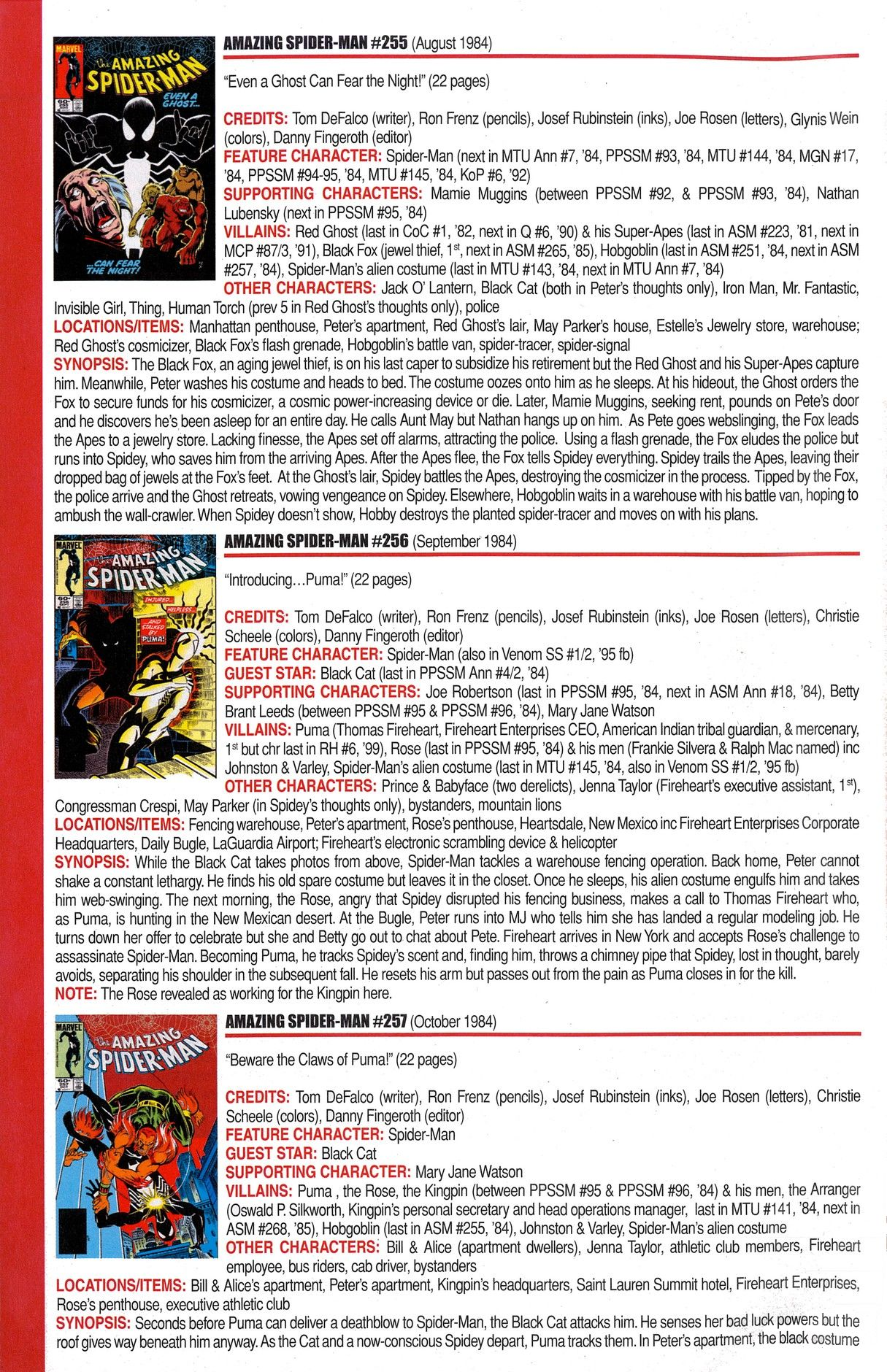 Read online Official Index to the Marvel Universe comic -  Issue #6 - 8