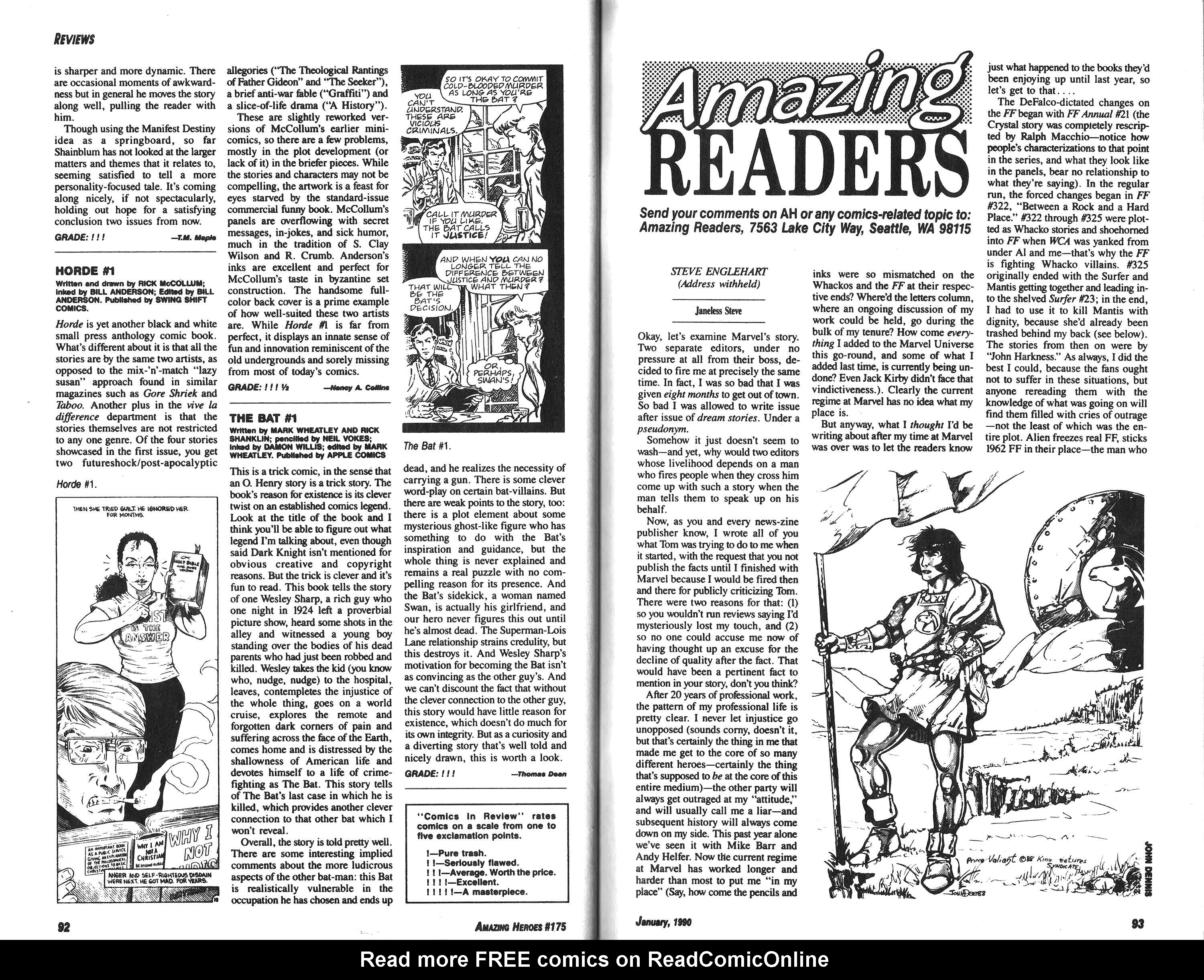 Read online Amazing Heroes comic -  Issue #175 - 47
