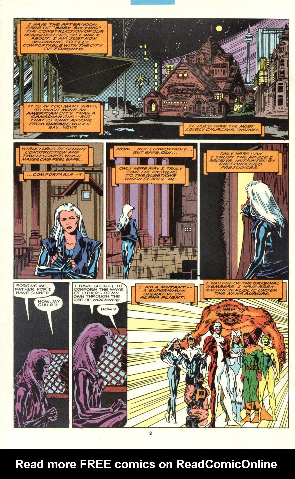Read online Alpha Flight (1983) comic -  Issue #95 - 3