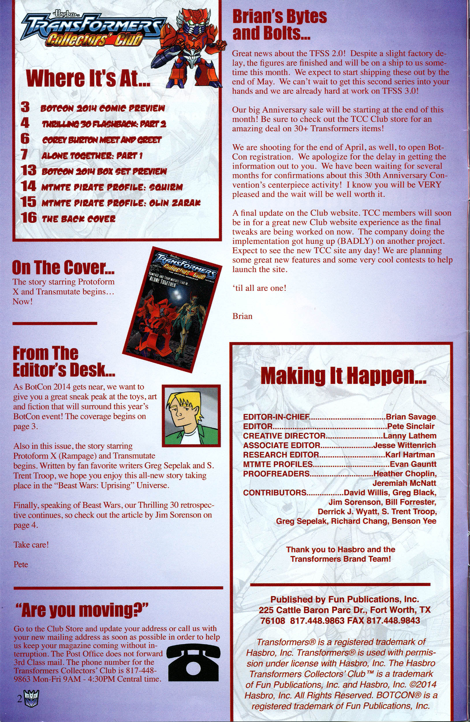 Read online Transformers: Collectors' Club comic -  Issue #56 - 2