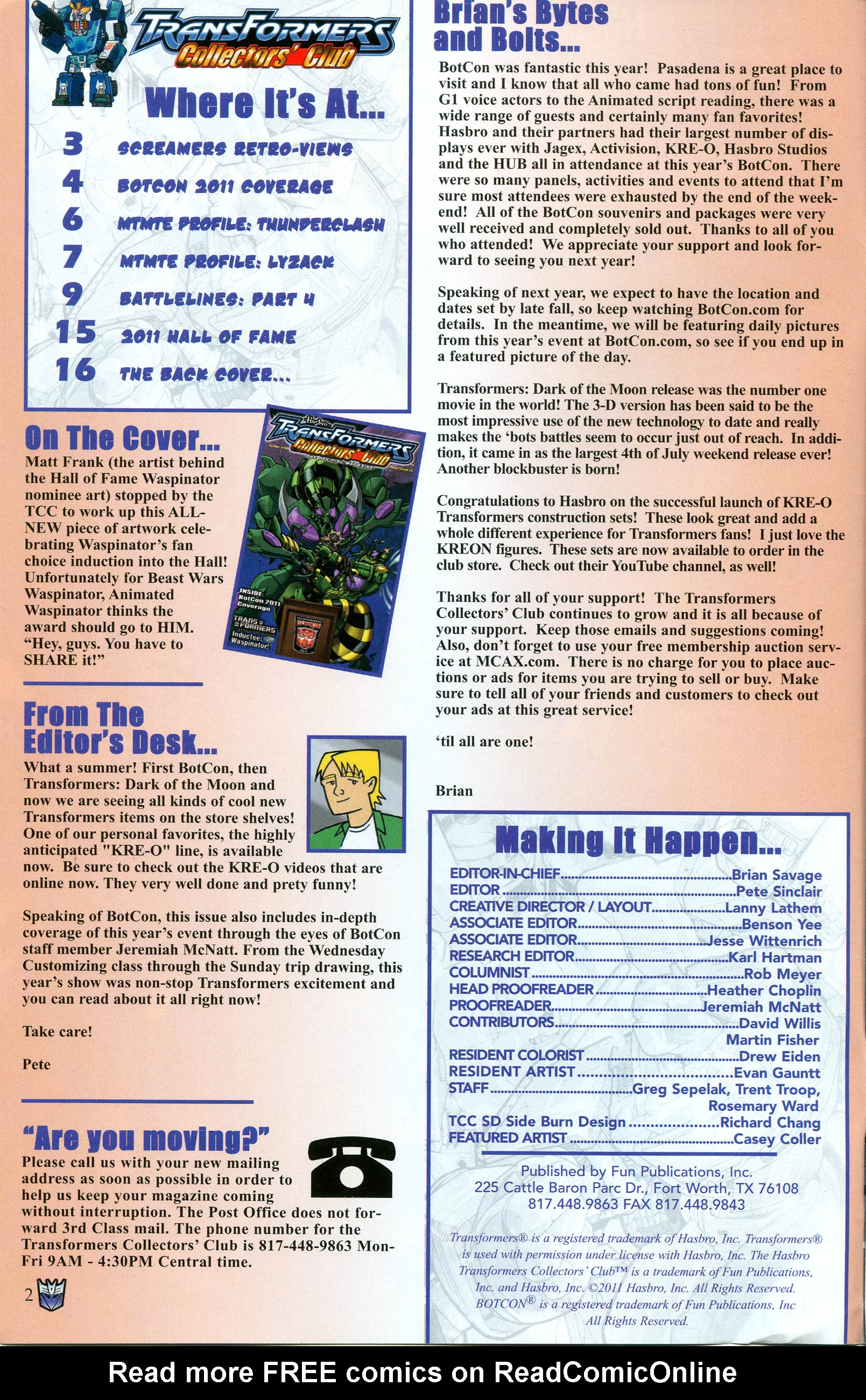 Read online Transformers: Collectors' Club comic -  Issue #40 - 2