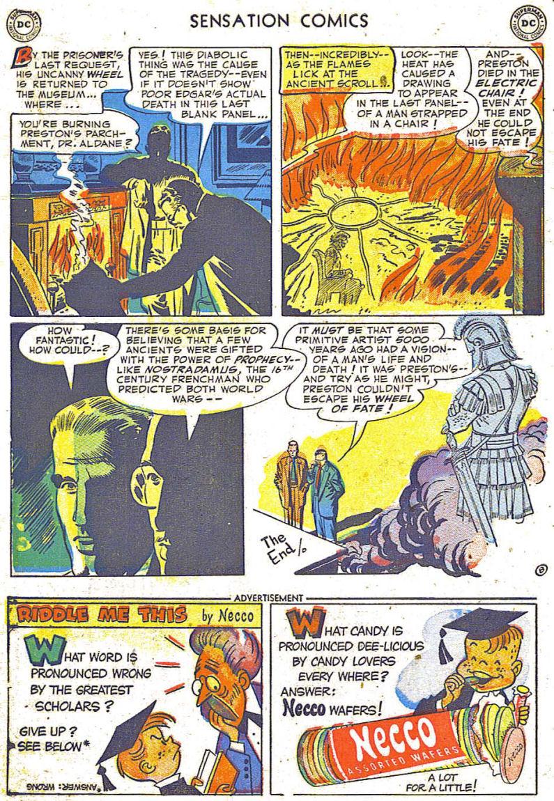 Read online Sensation (Mystery) Comics comic -  Issue #108 - 10