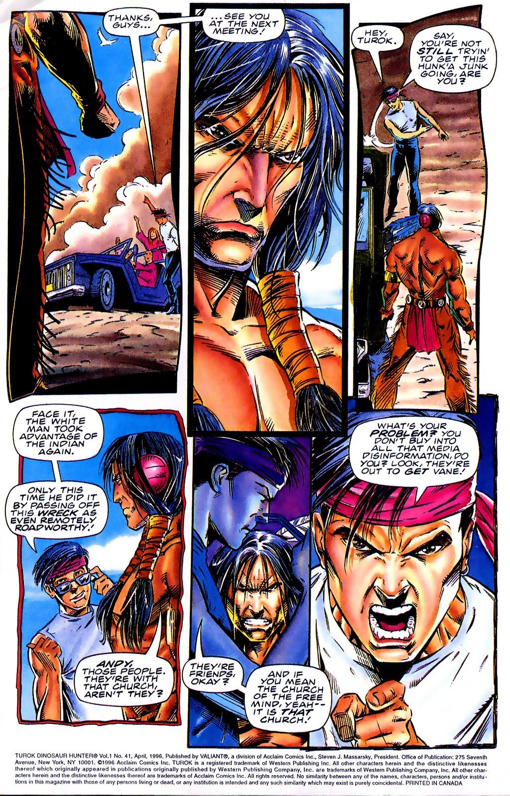 Read online Turok, Dinosaur Hunter (1993) comic -  Issue #41 - 4