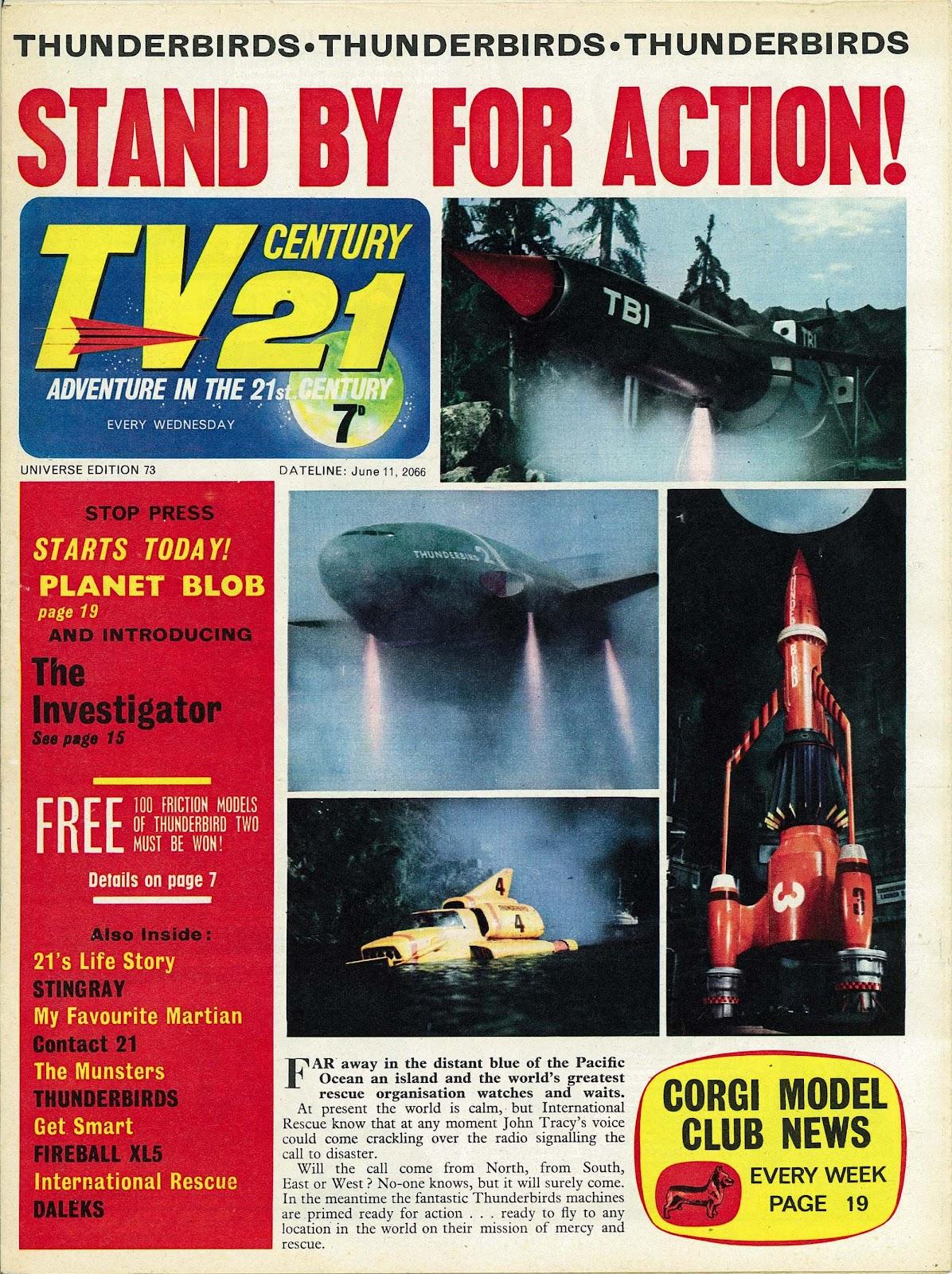 TV Century 21 (TV 21) issue 73 - Page 1