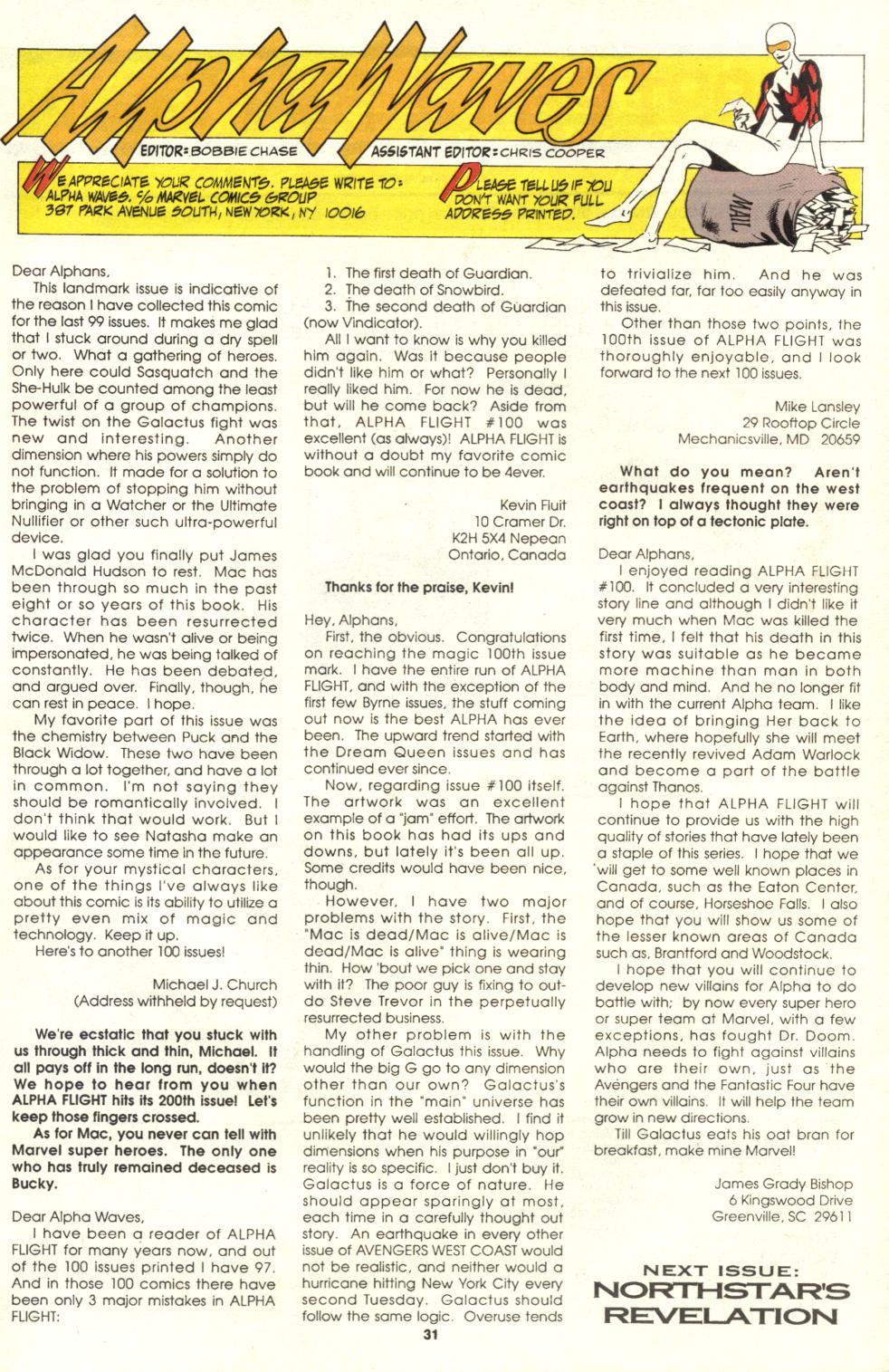 Read online Alpha Flight (1983) comic -  Issue #105 - 25