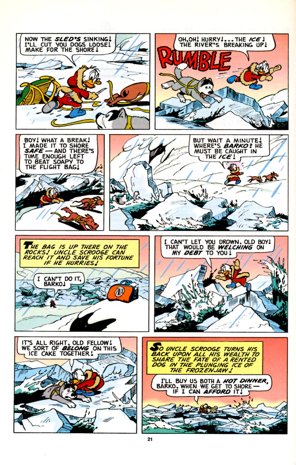 Read online Uncle Scrooge (1953) comic -  Issue #278 - 22
