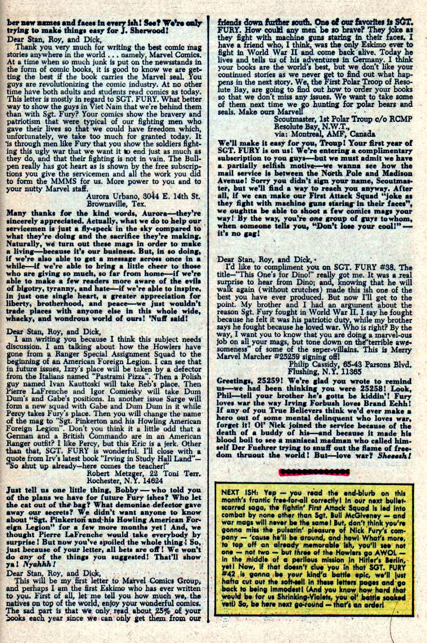 Read online Sgt. Fury comic -  Issue #41 - 33