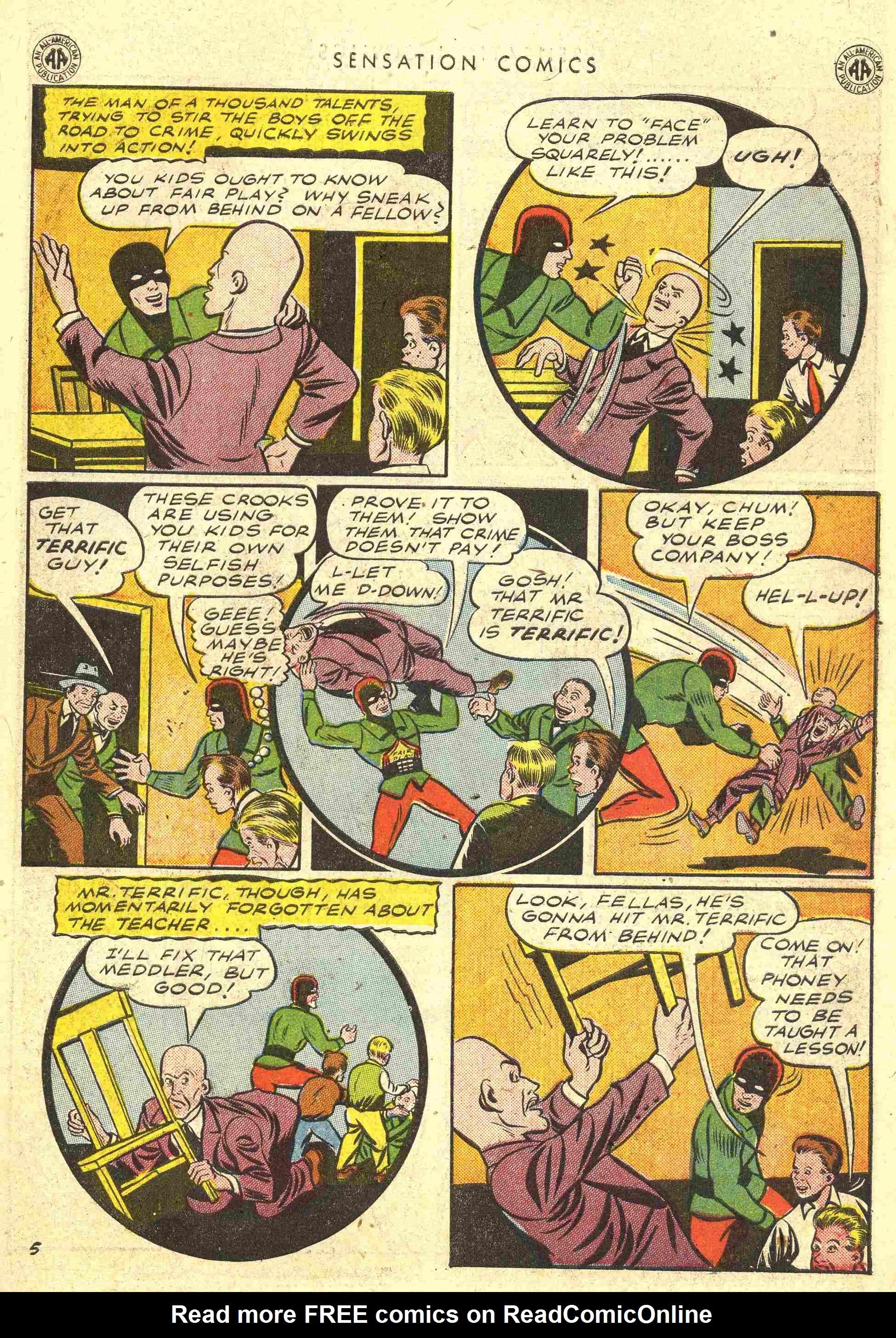 Read online Sensation (Mystery) Comics comic -  Issue #42 - 39