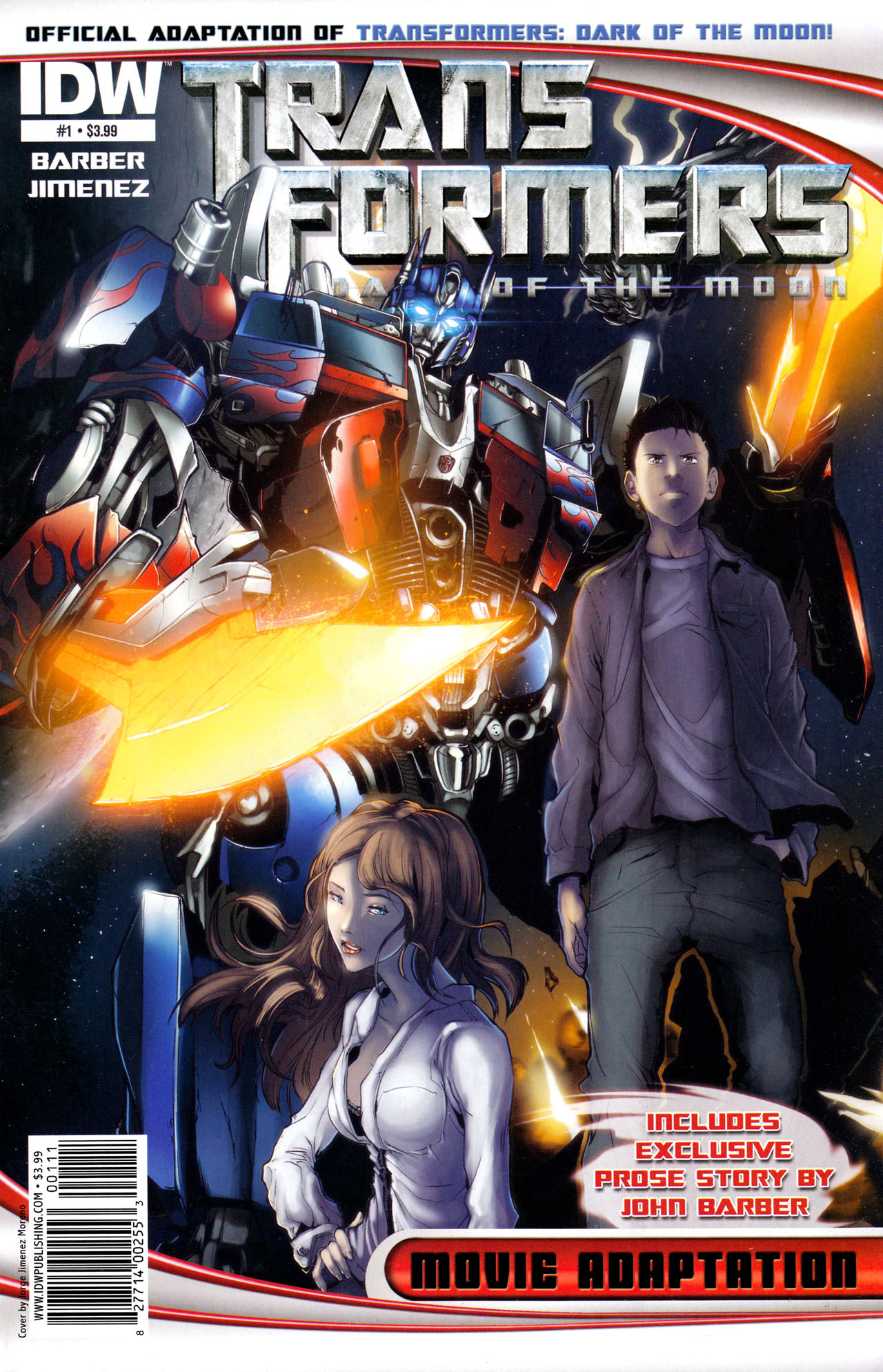 Read online Transformers: Dark of the Moon Movie Adaptation comic -  Issue #1 - 1