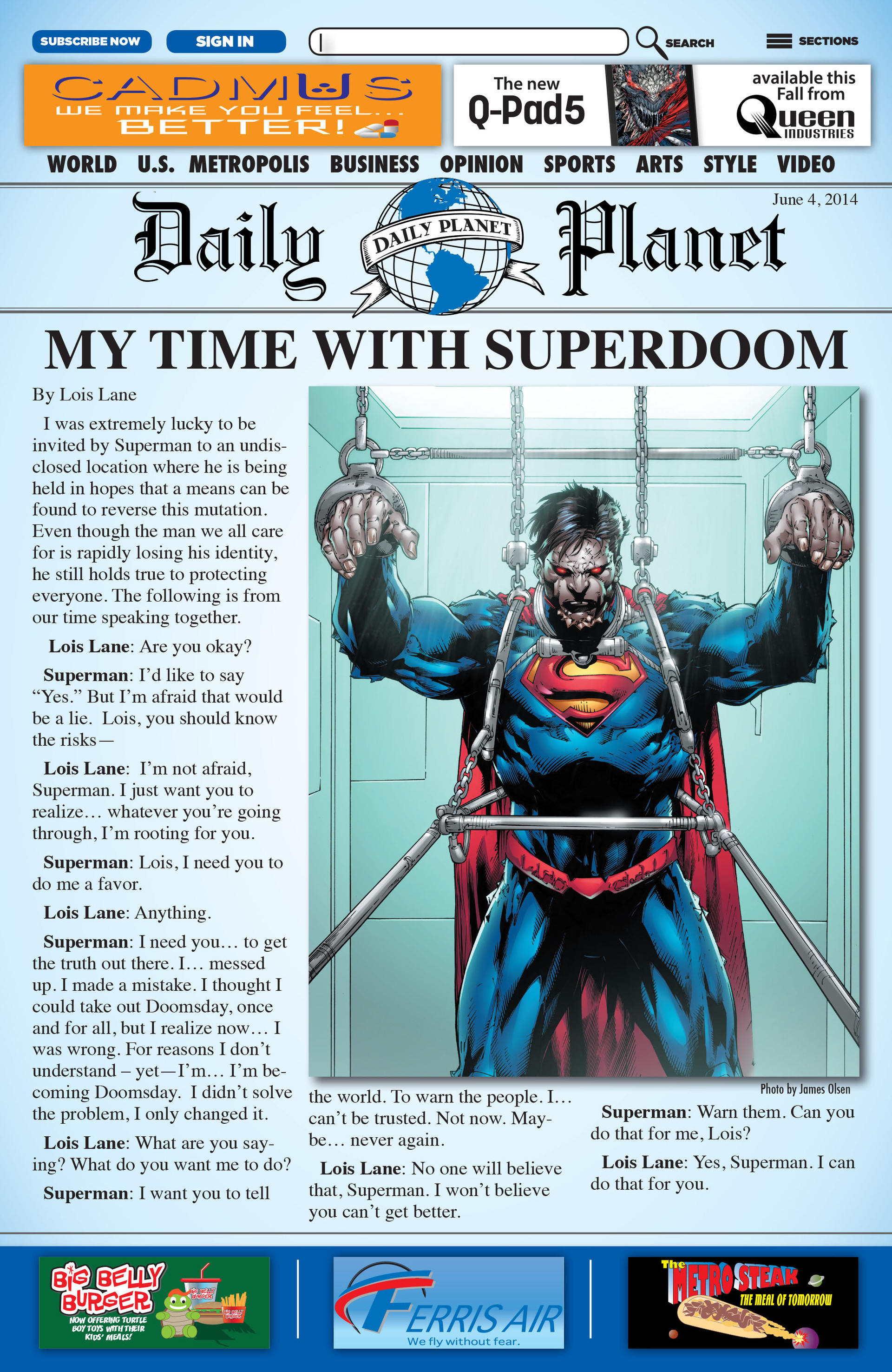 Read online Action Comics (2011) comic -  Issue #32 - 2