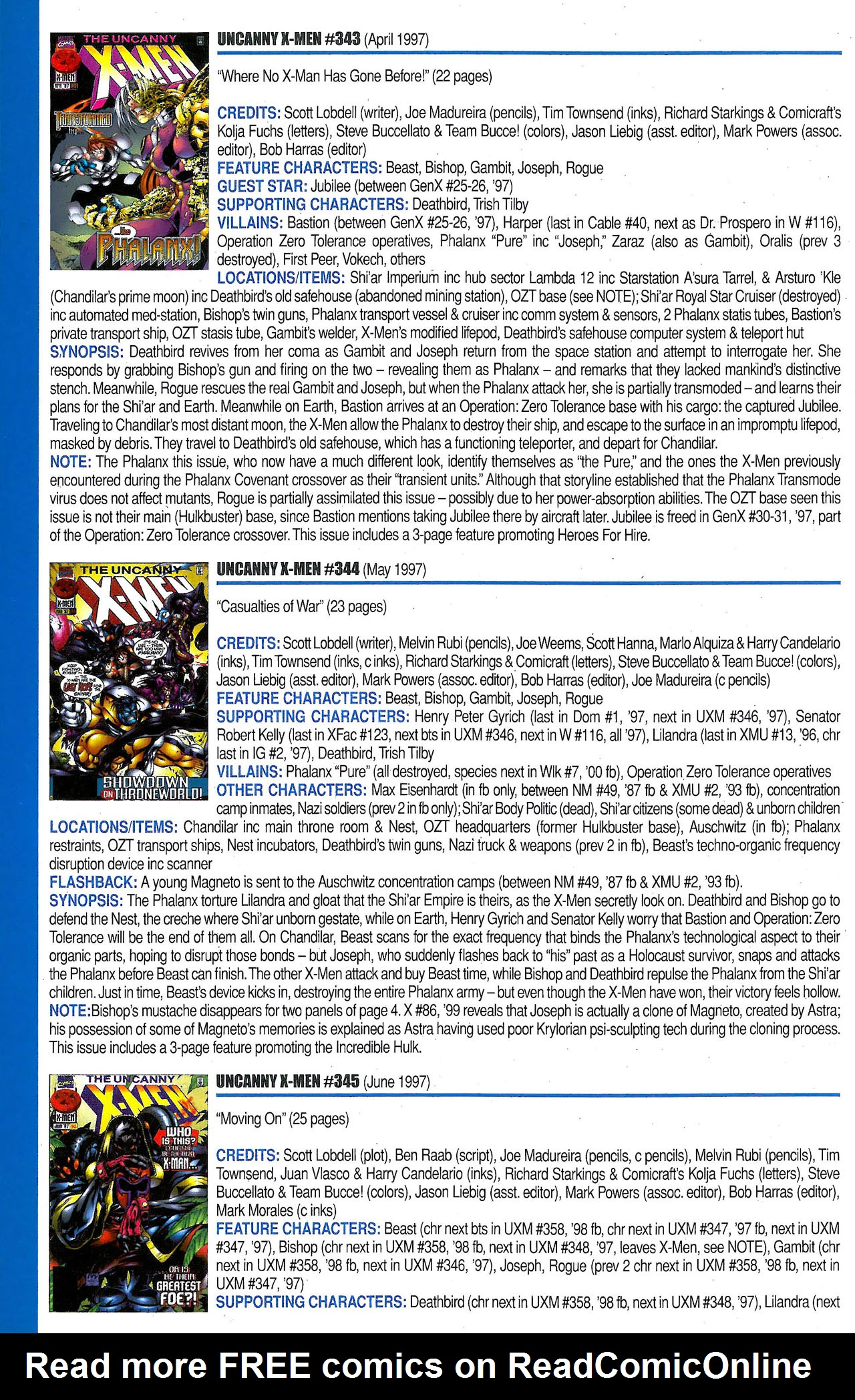Read online Official Index to the Marvel Universe comic -  Issue #9 - 48