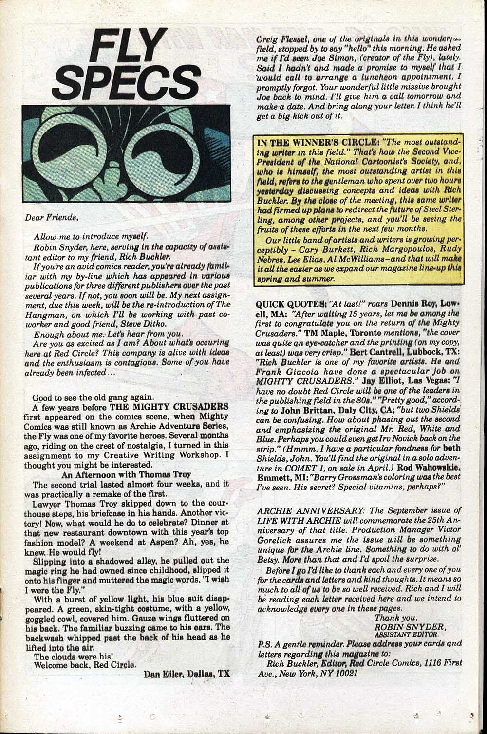 Read online The Fly (1983) comic -  Issue #1 - 20