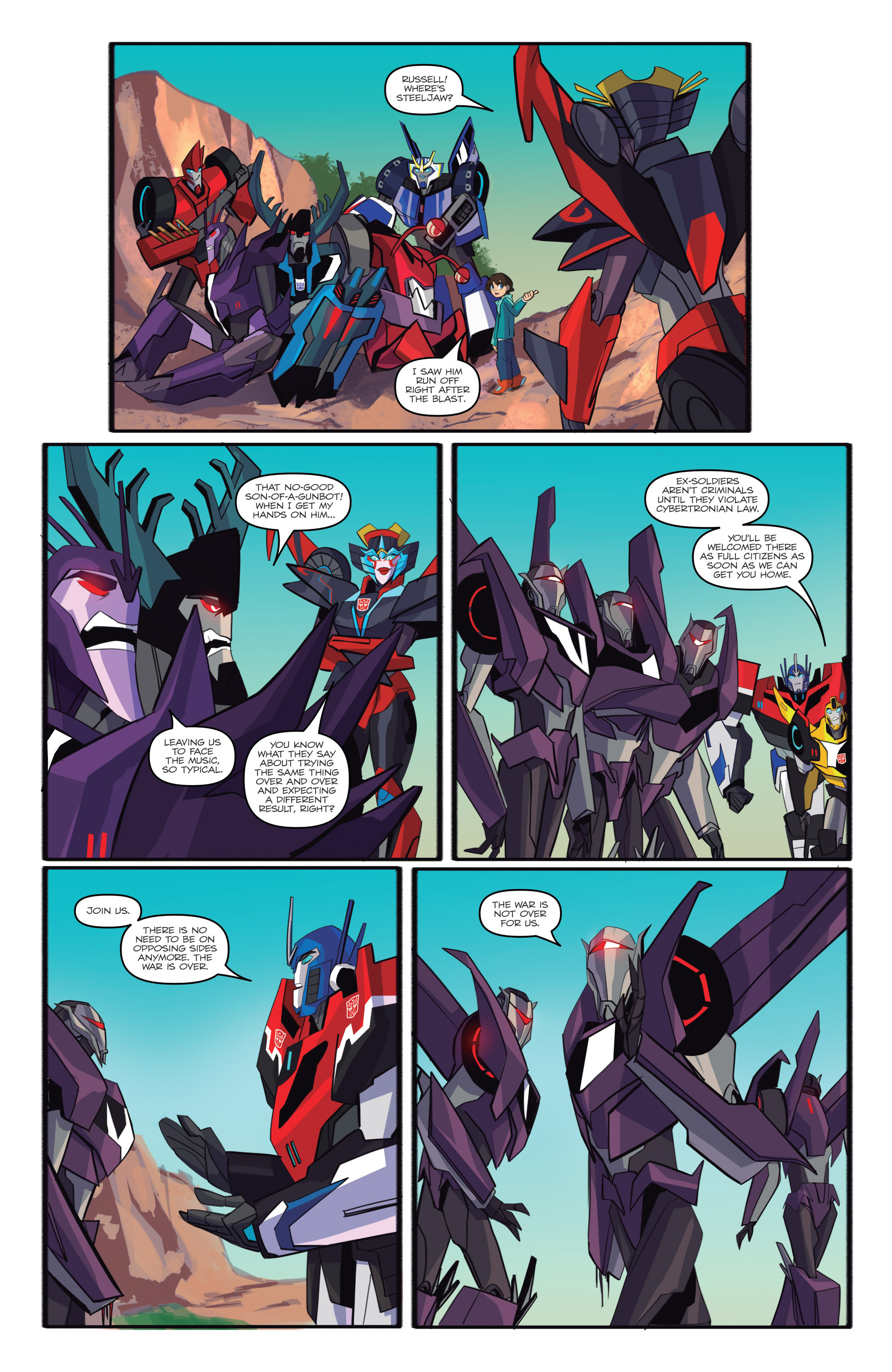 Read online Transformers: Robots In Disguise (2015) comic -  Issue #6 - 23