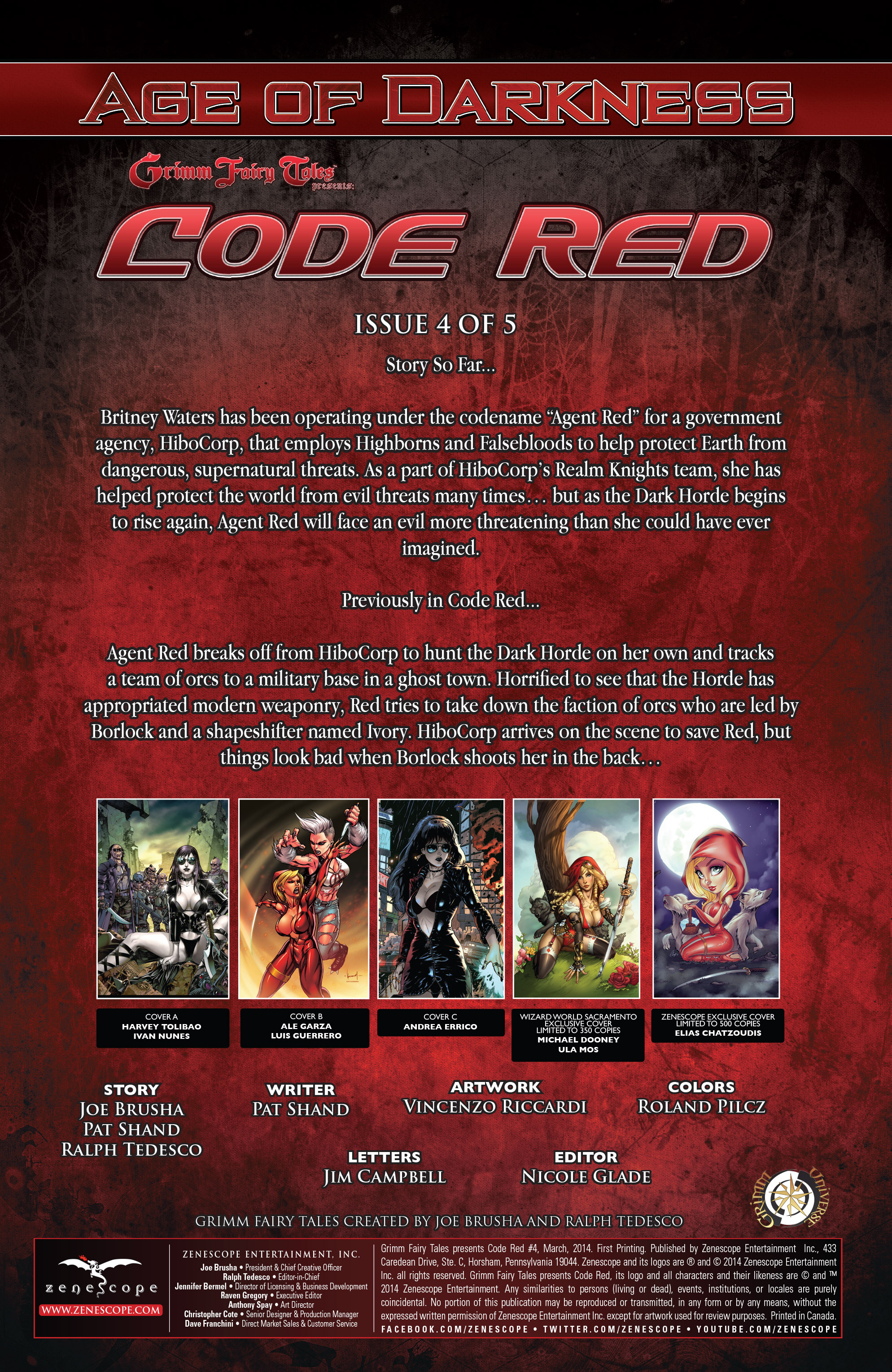 Read online Grimm Fairy Tales presents Code Red comic -  Issue # TPB - 78