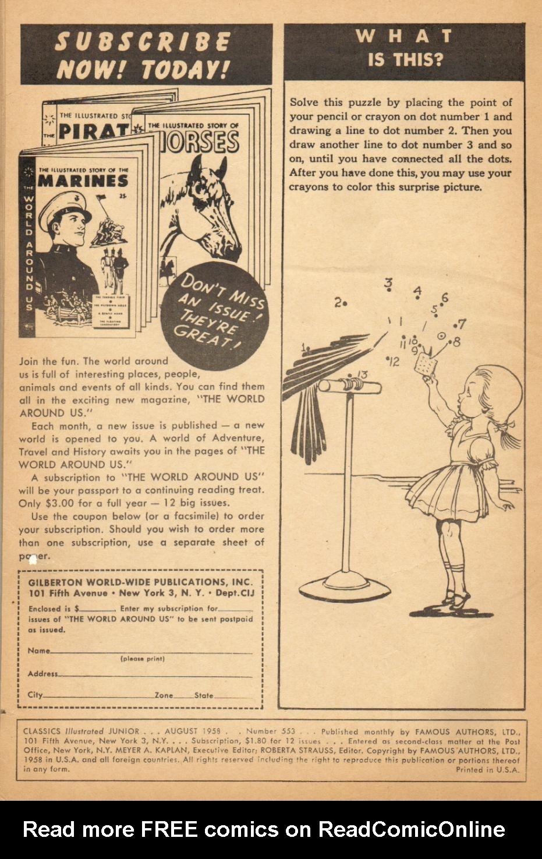 Classics Illustrated Junior 553 Page 2