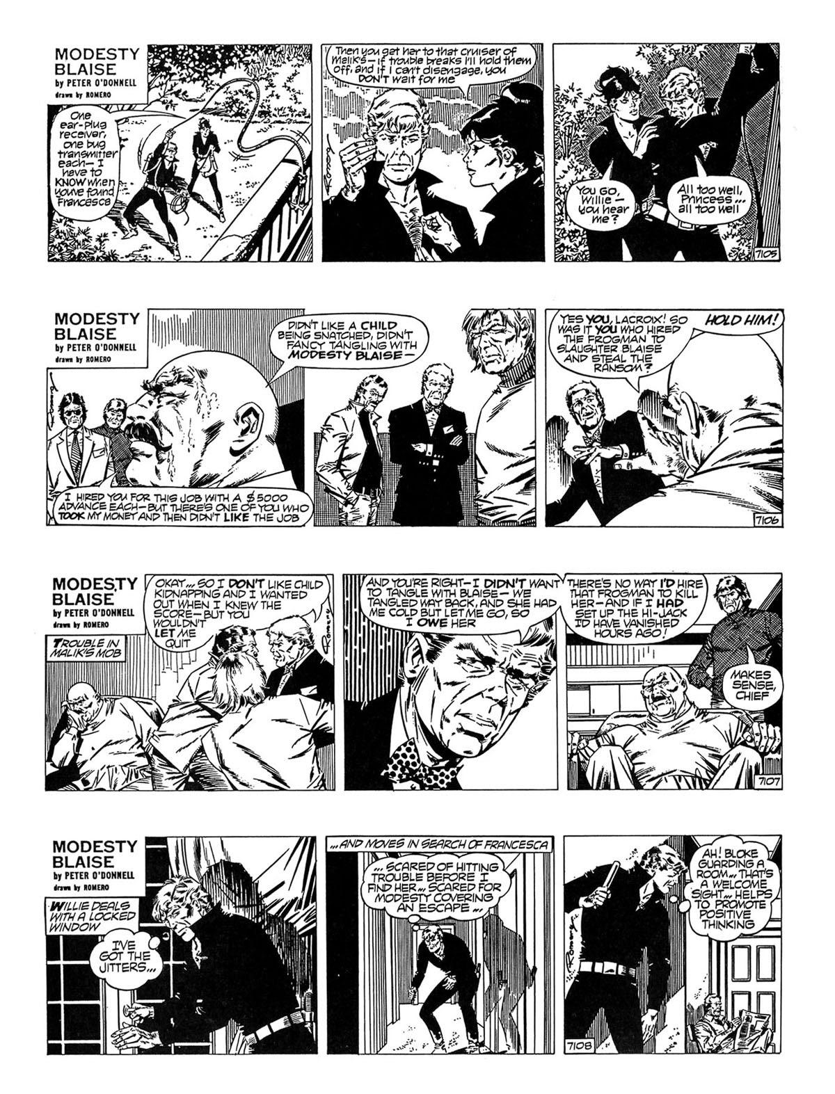 Read online Modesty Blaise Live bait comic -  Issue # TPB - 23