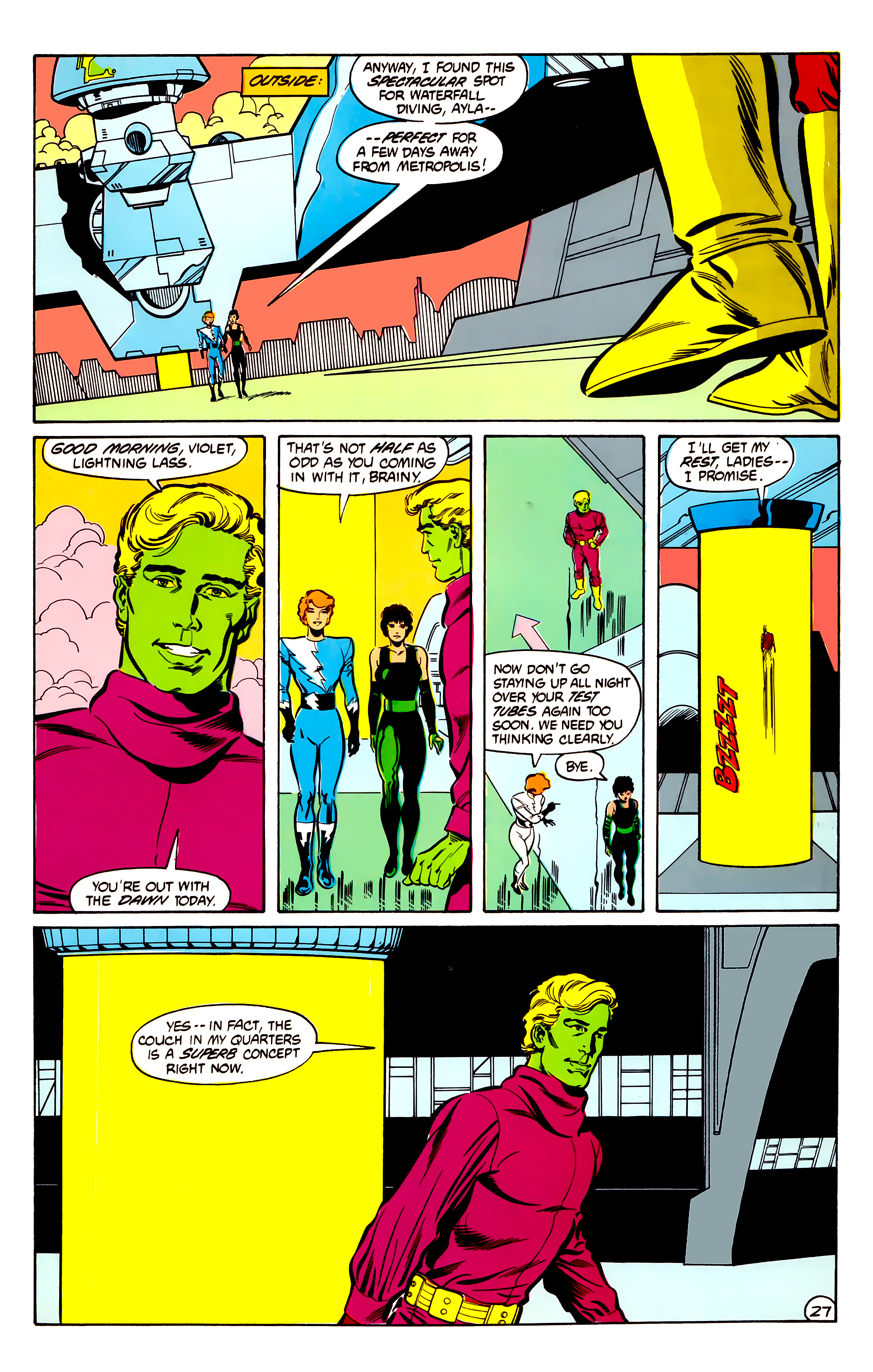 Legion of Super-Heroes (1984) 30 Page 27