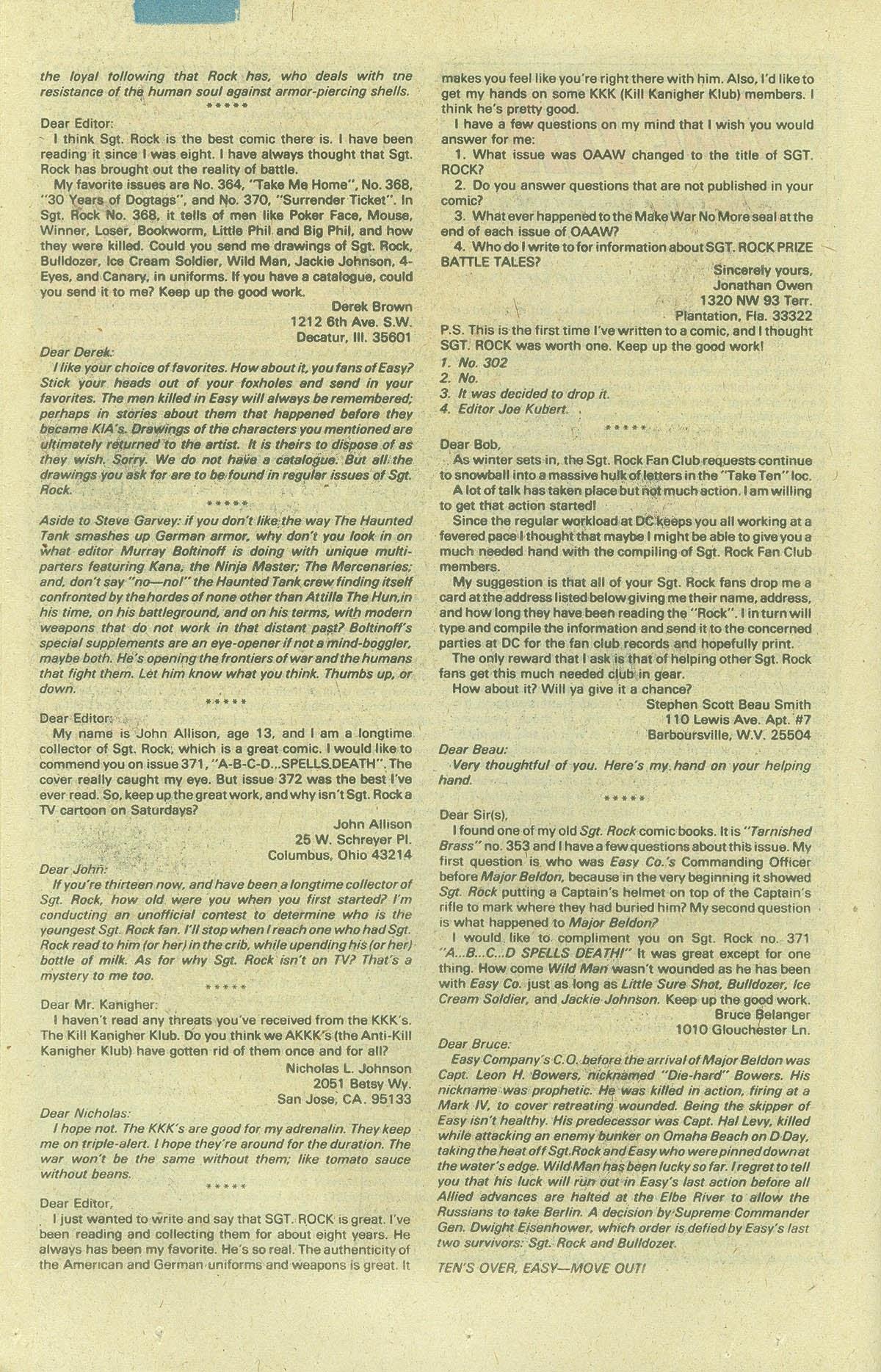 Read online Sgt. Rock comic -  Issue #378 - 25