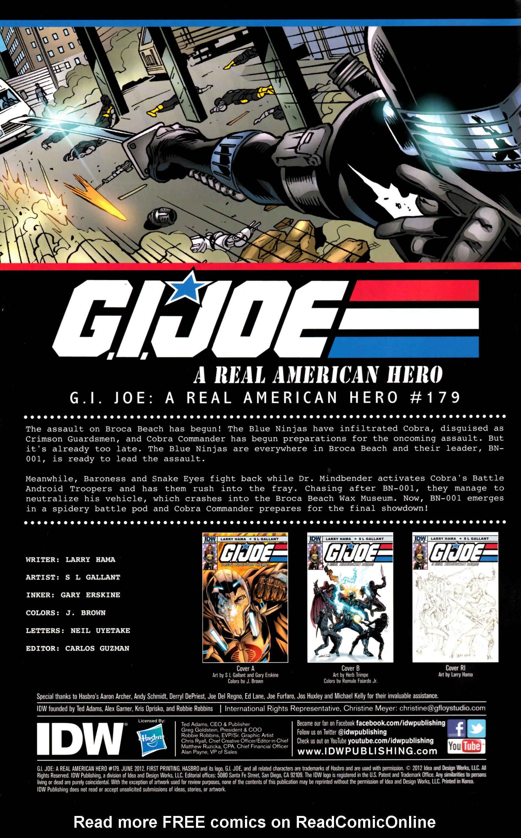 G.I. Joe: A Real American Hero 179 Page 2